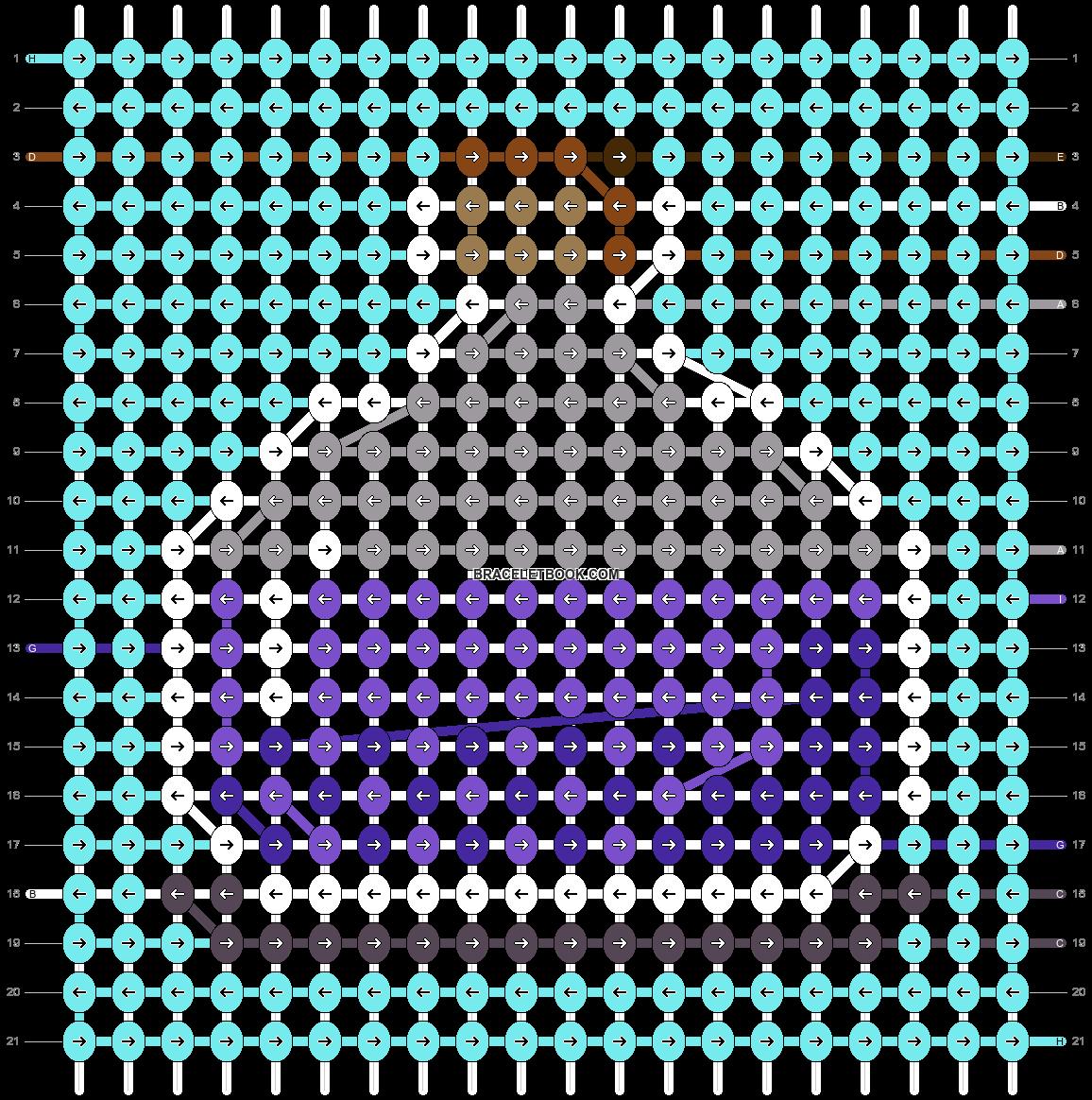 Alpha pattern #41415 pattern