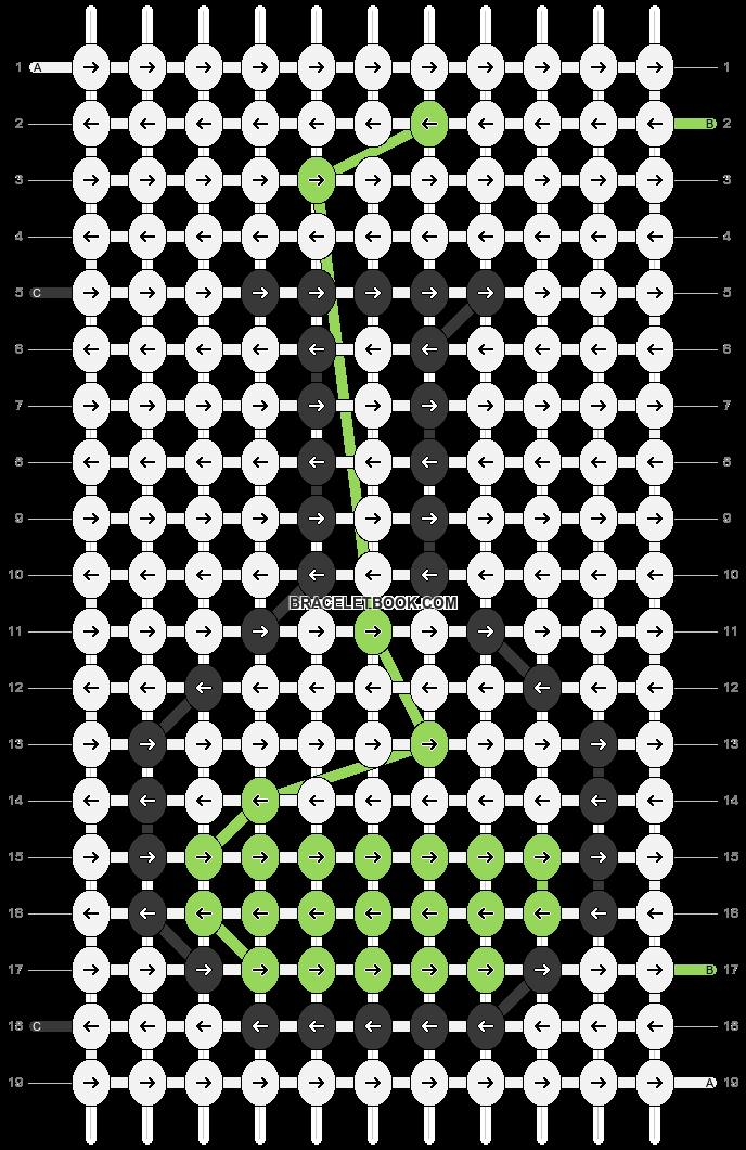 Alpha pattern #41745 pattern