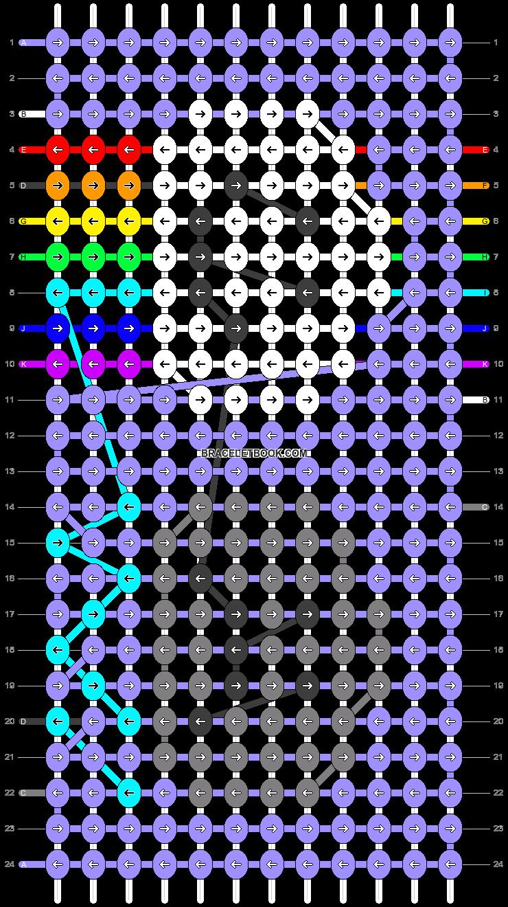 Alpha pattern #42014 pattern
