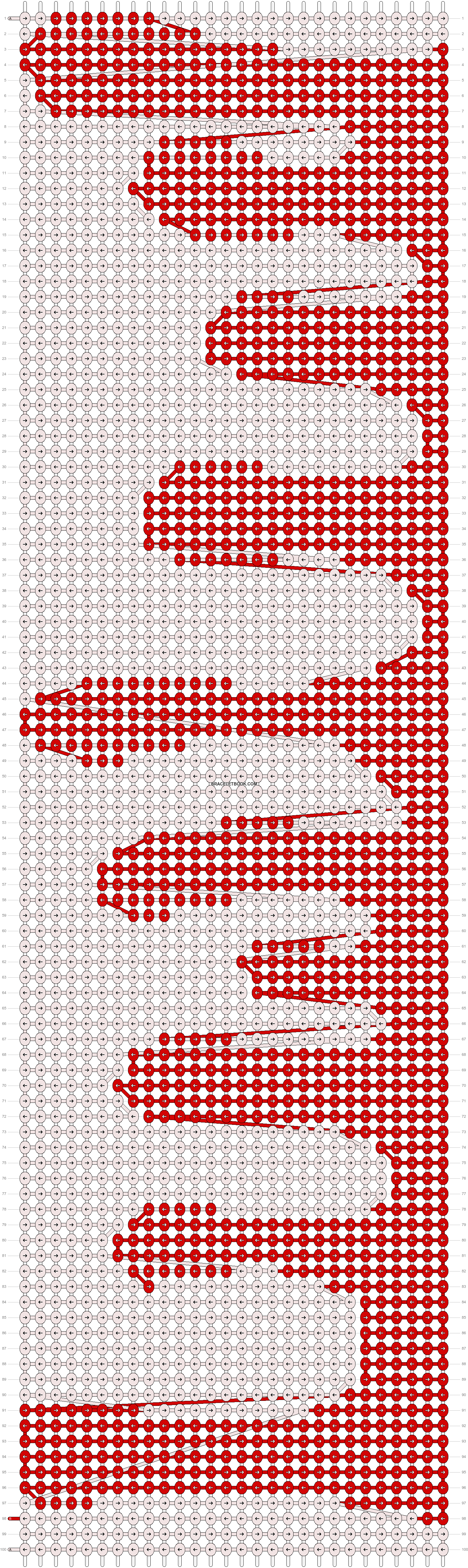 Alpha pattern #42424 pattern