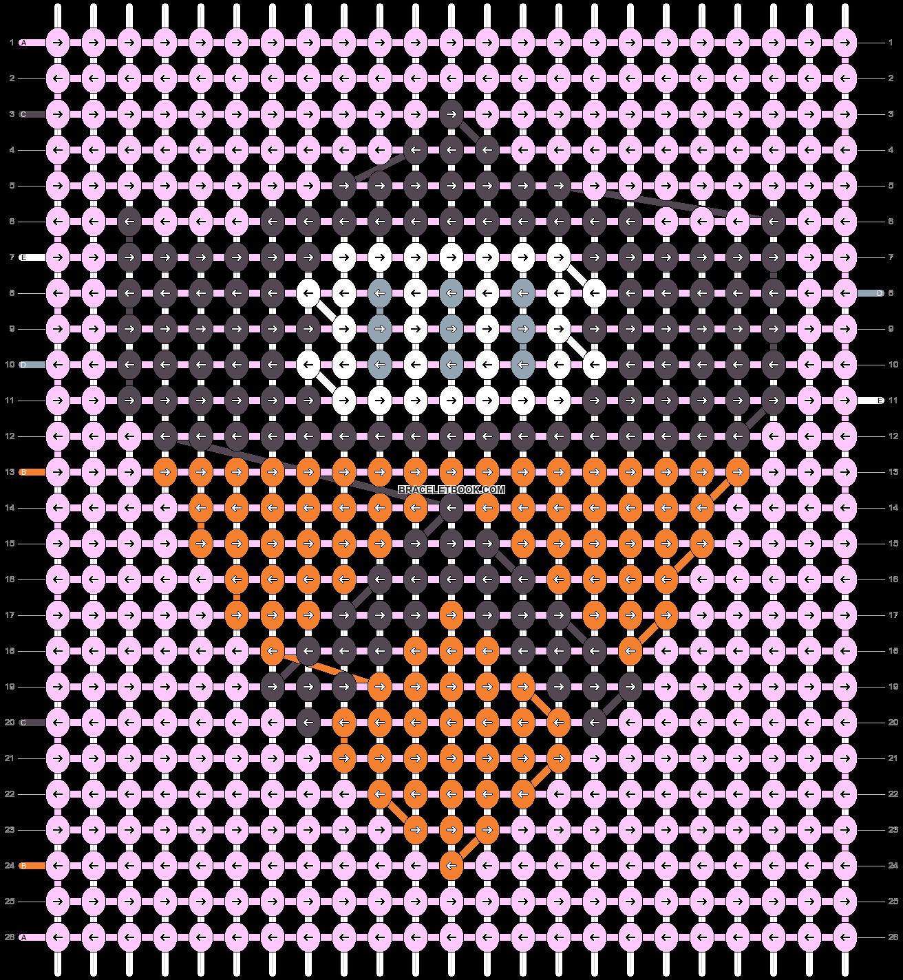 Alpha pattern #43210 pattern