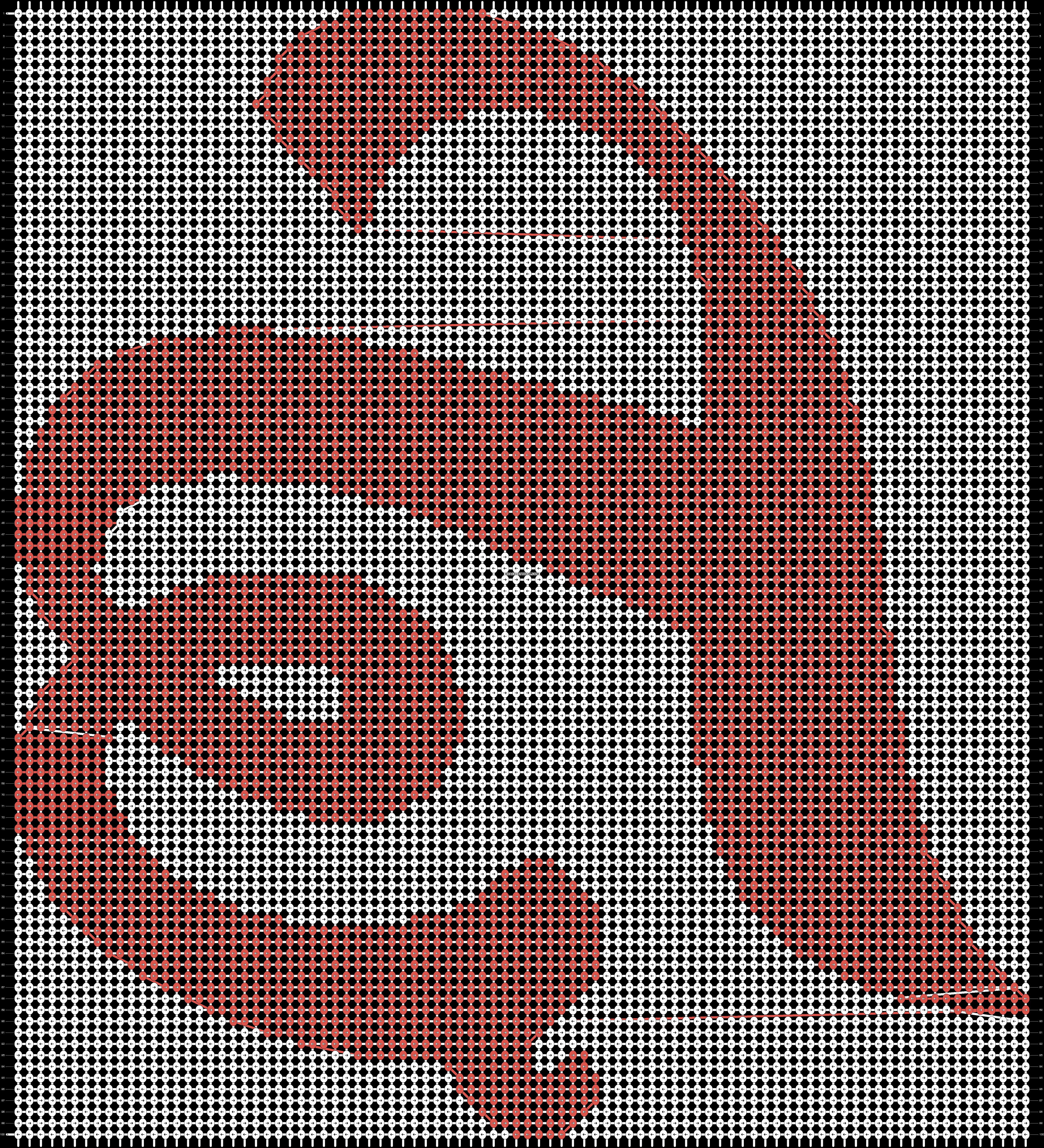 Alpha pattern #43385 pattern
