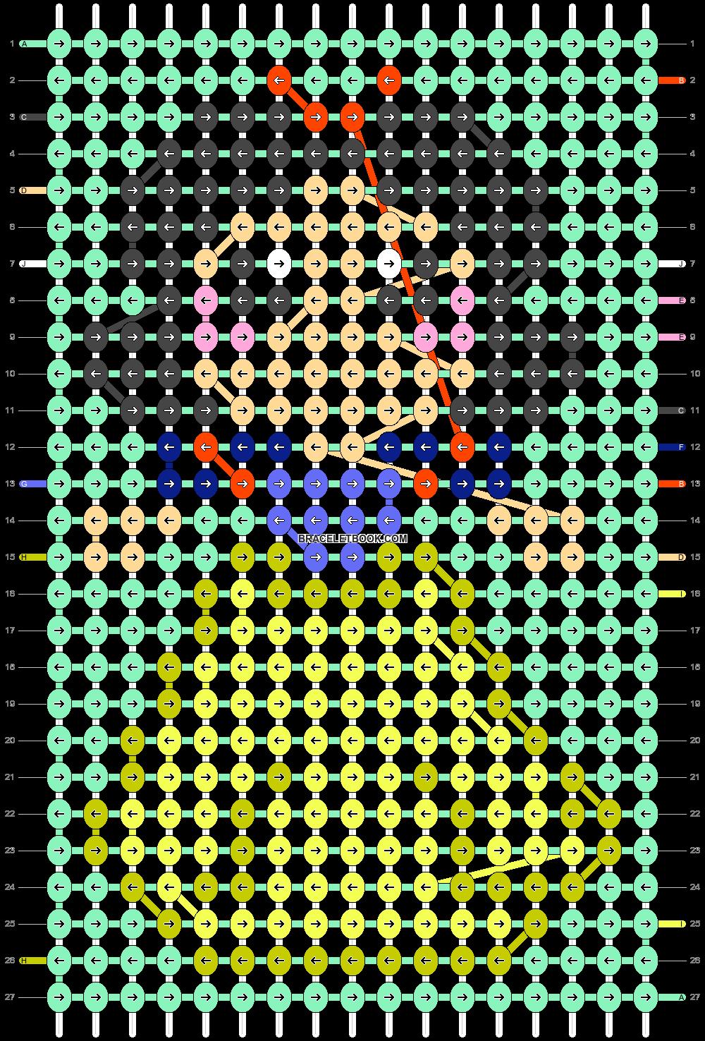Alpha pattern #43416 pattern