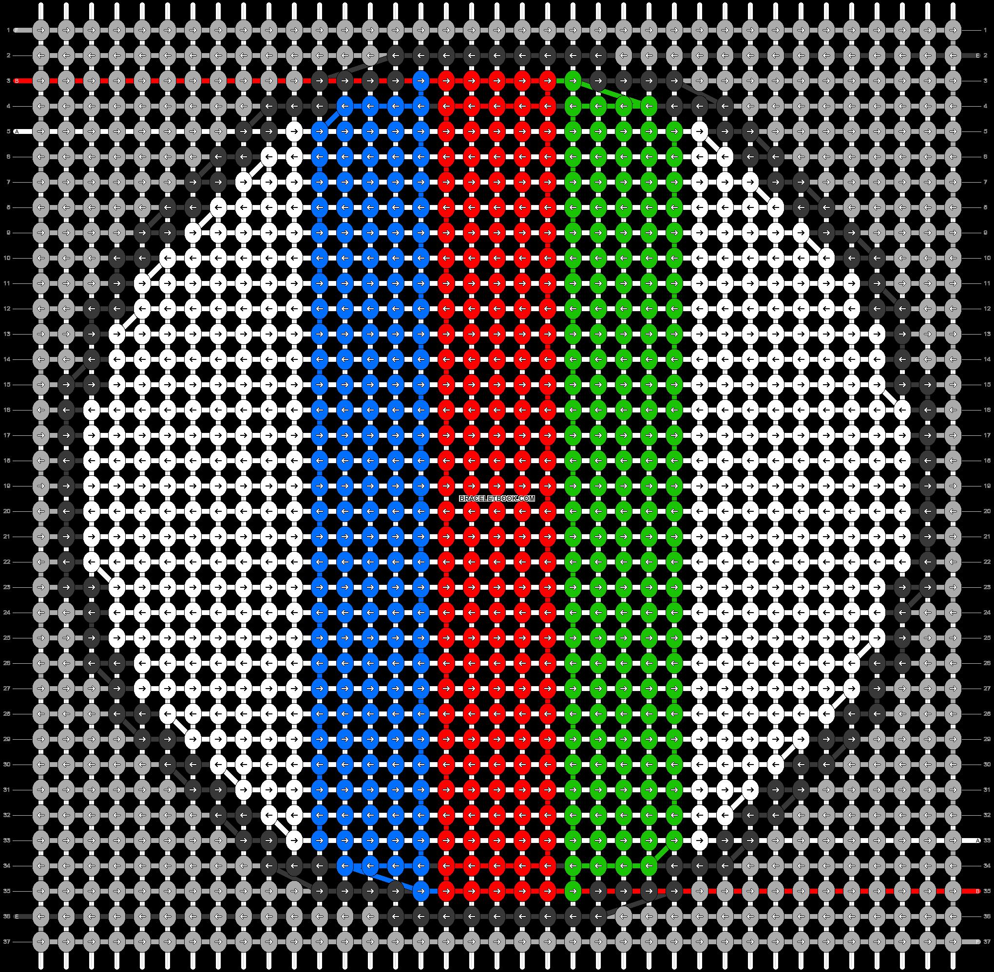 Alpha pattern #43438 pattern