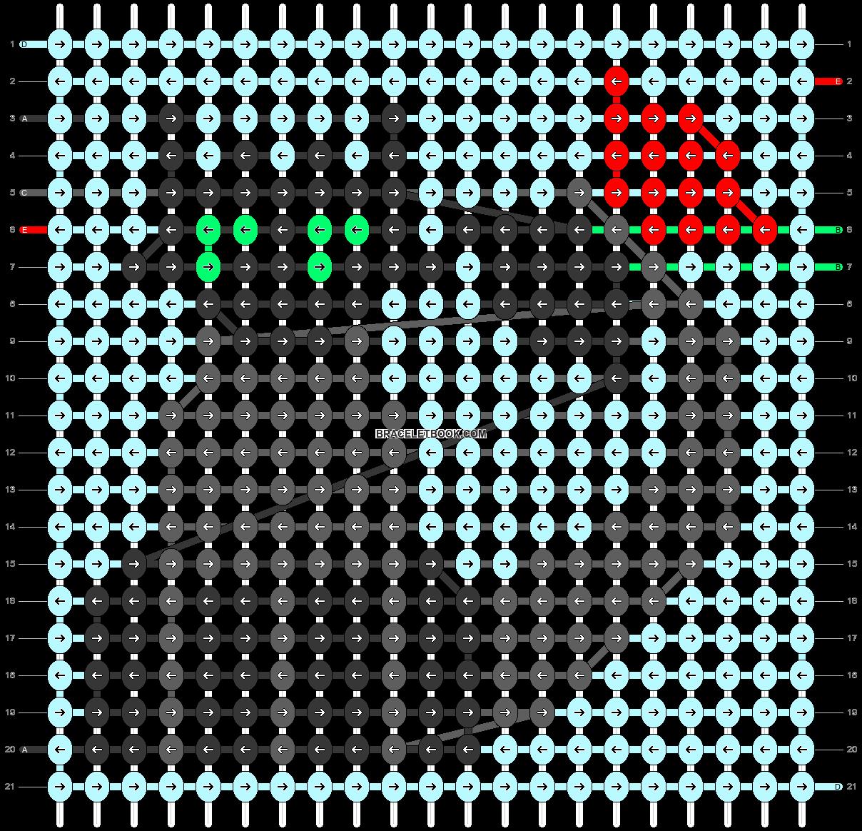 Alpha pattern #43503 pattern