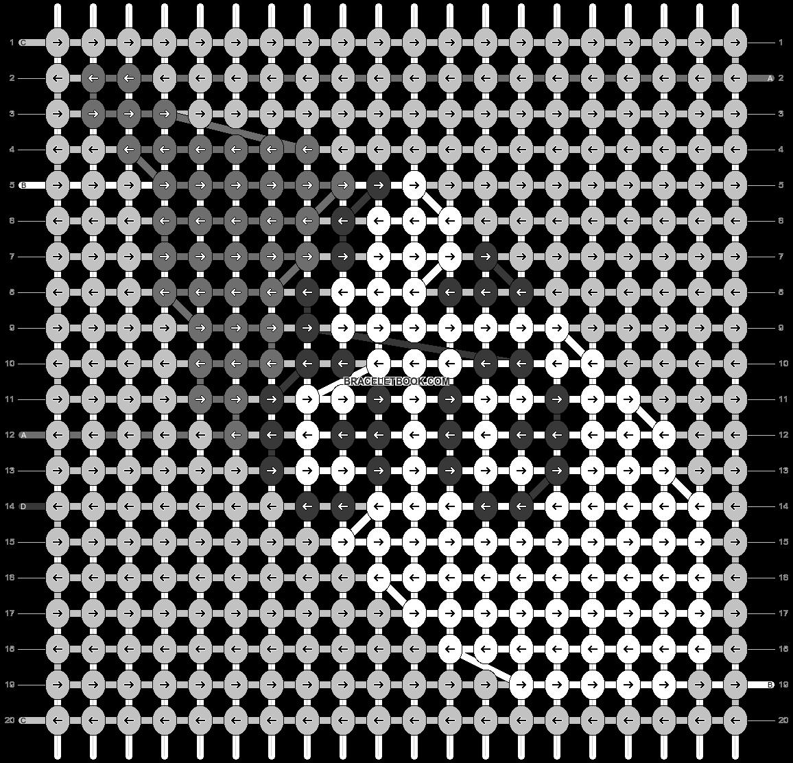 Alpha pattern #43665 pattern