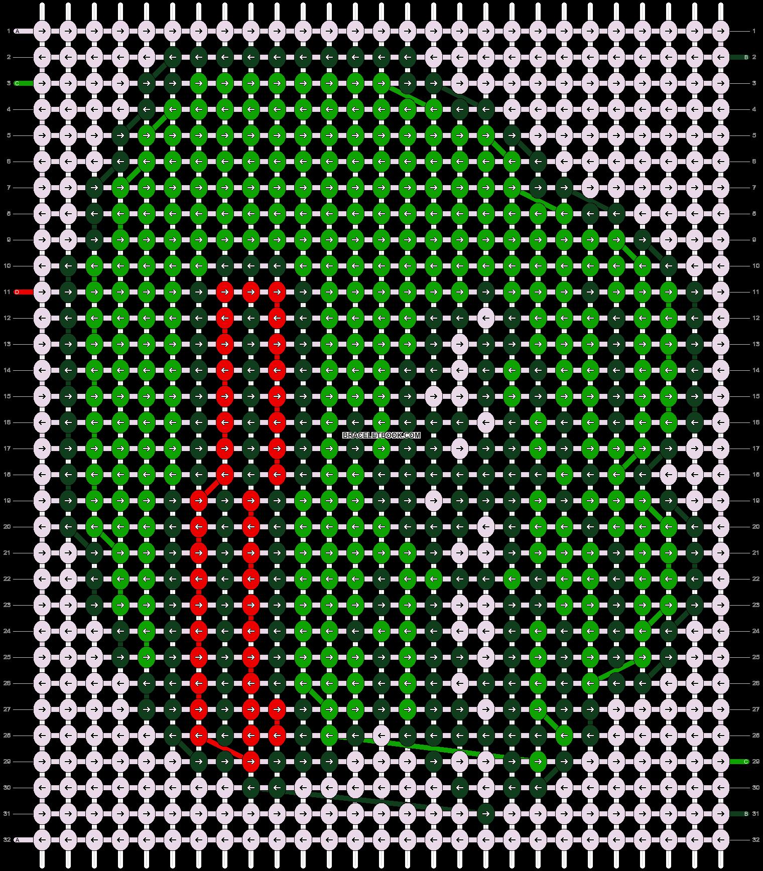 Alpha pattern #43708 pattern