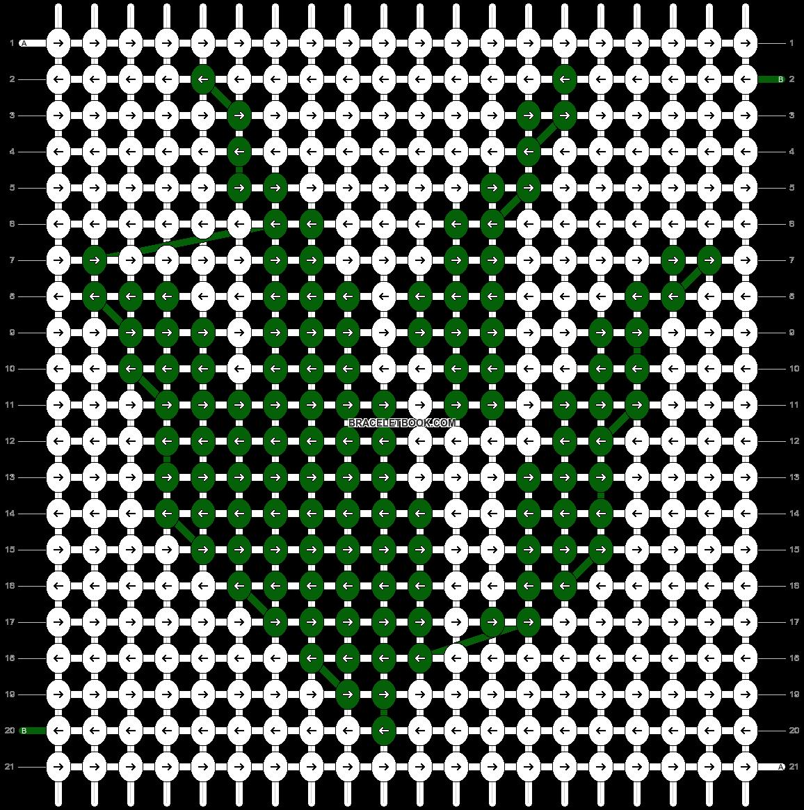 Alpha pattern #43754 pattern