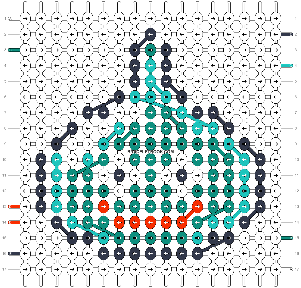 Alpha pattern #44001 pattern