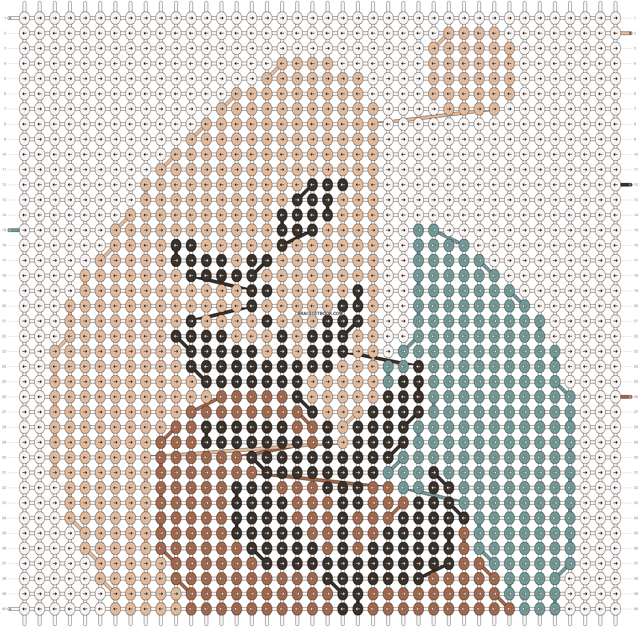 Alpha pattern #44005 pattern