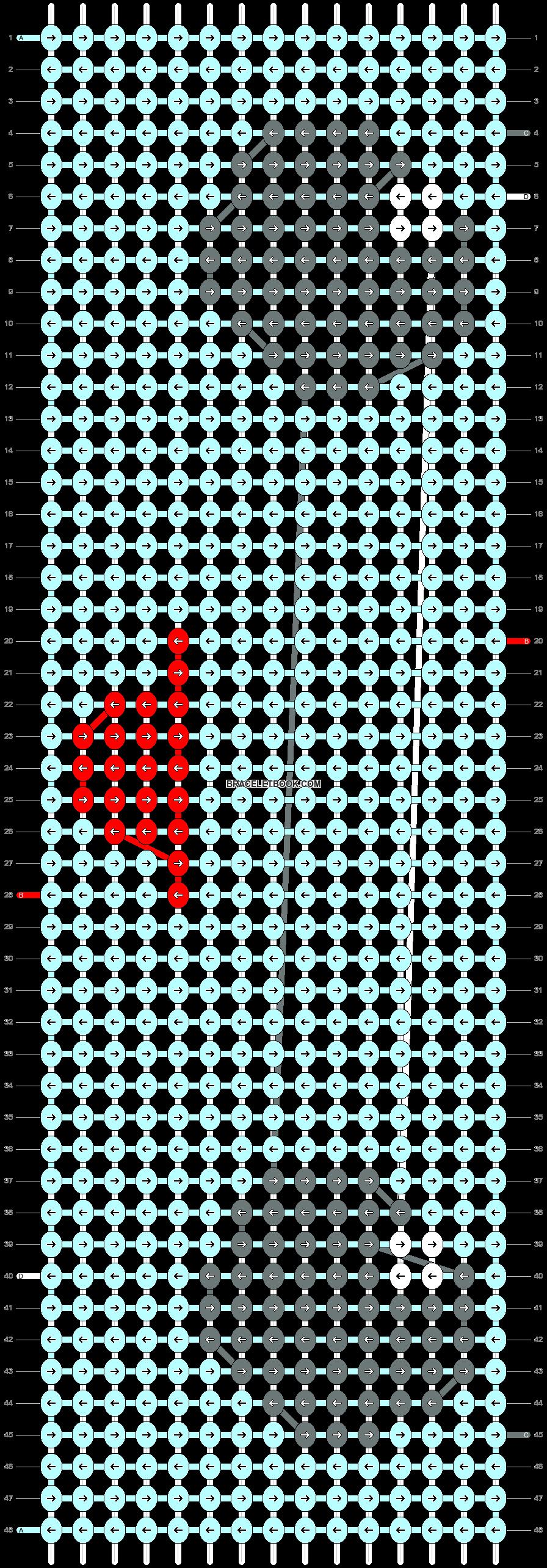 Alpha pattern #44628 pattern