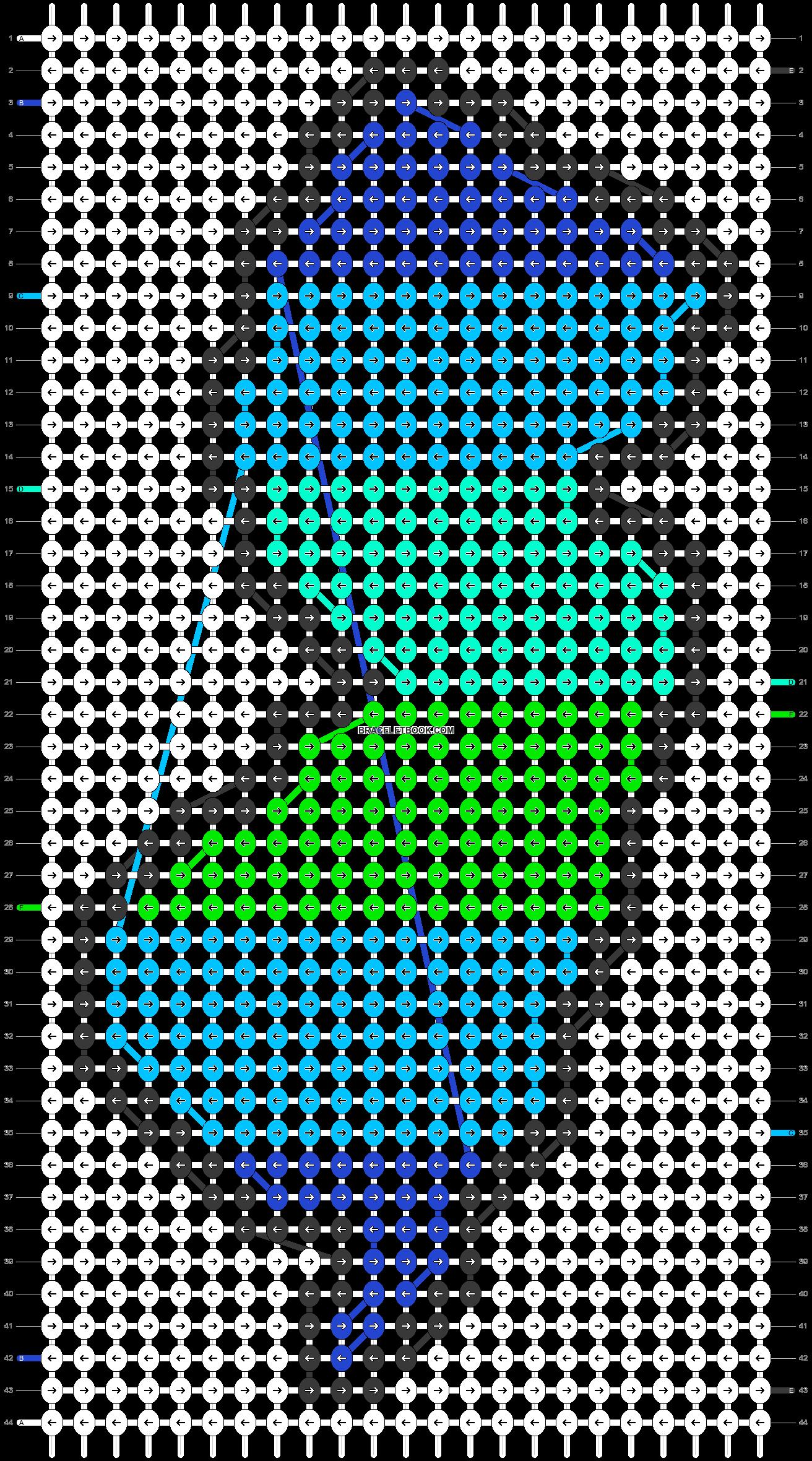 Alpha pattern #45051 pattern