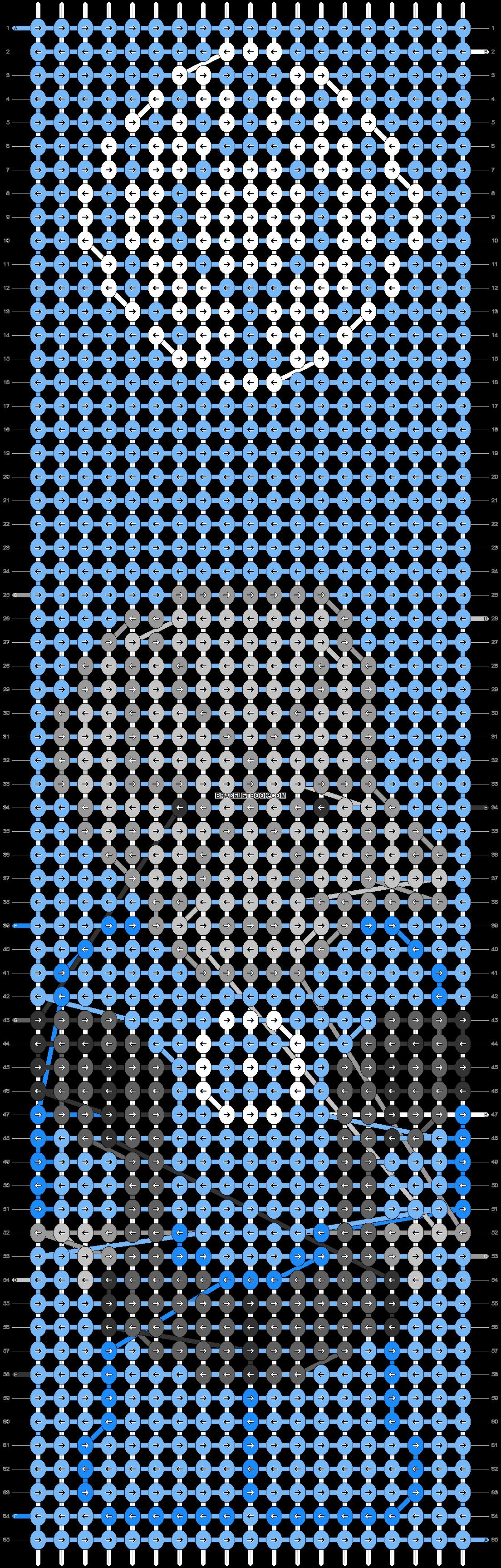 Alpha pattern #47001 pattern