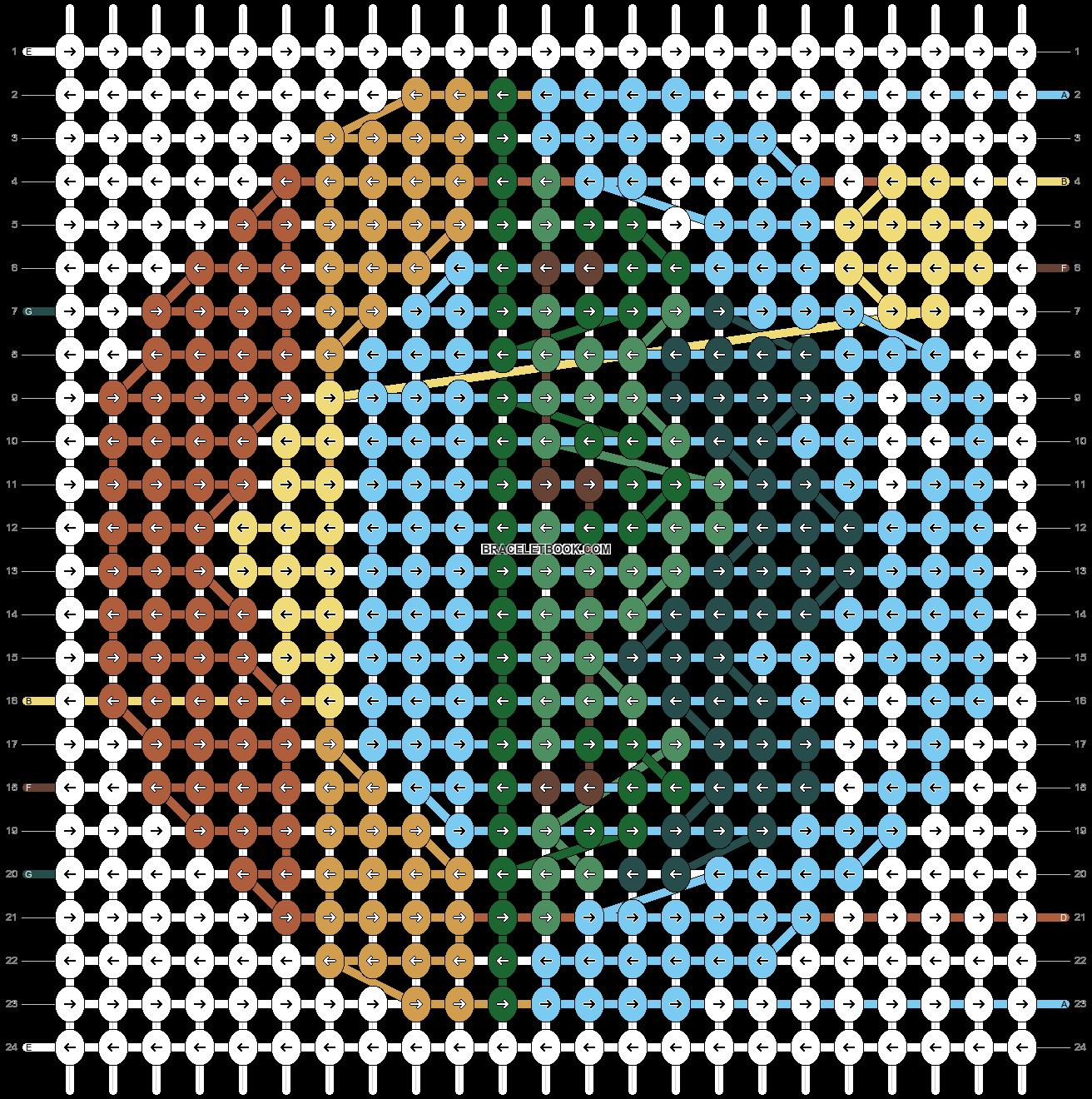 Alpha pattern #47023 pattern