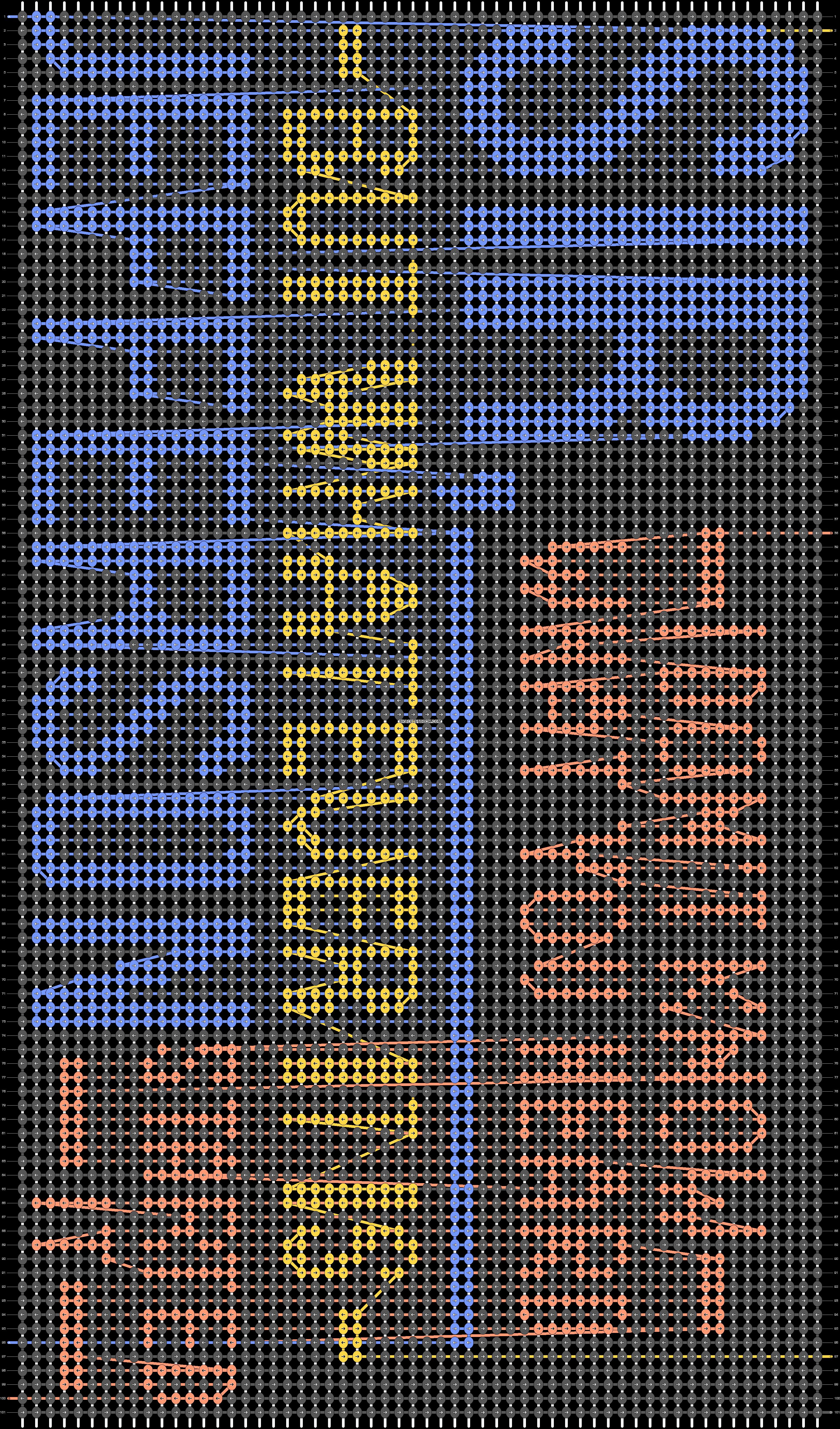 Alpha pattern #47050 pattern