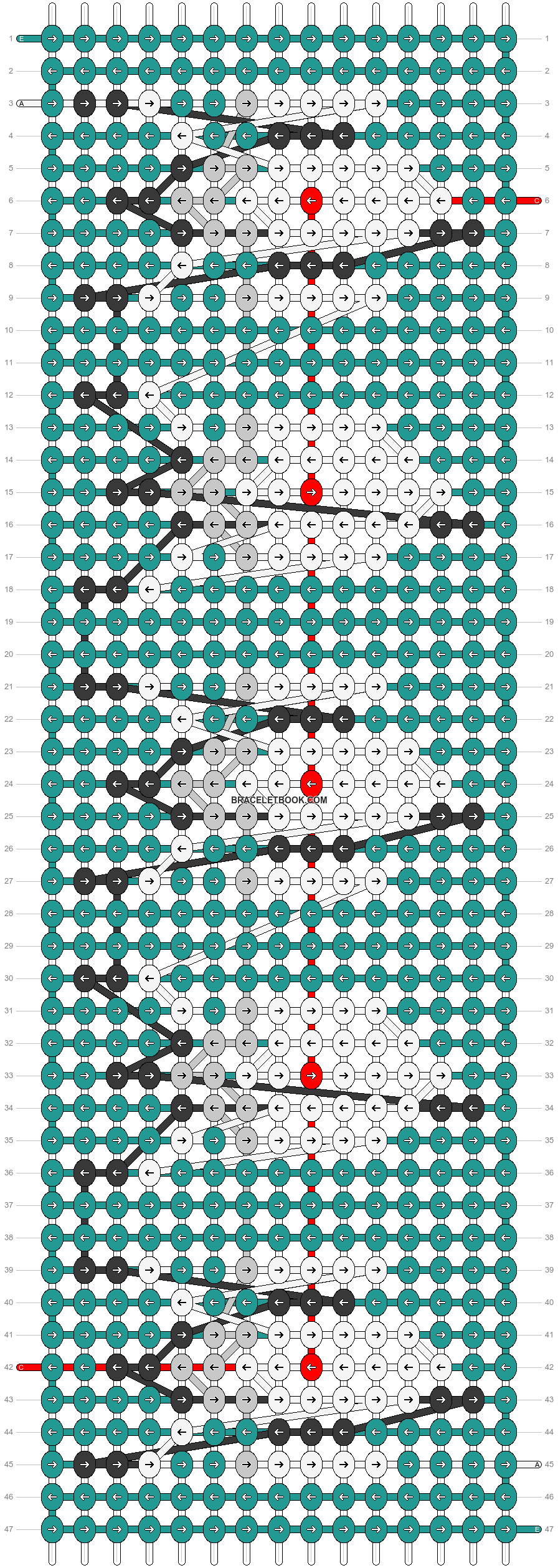 Alpha pattern #47080 pattern