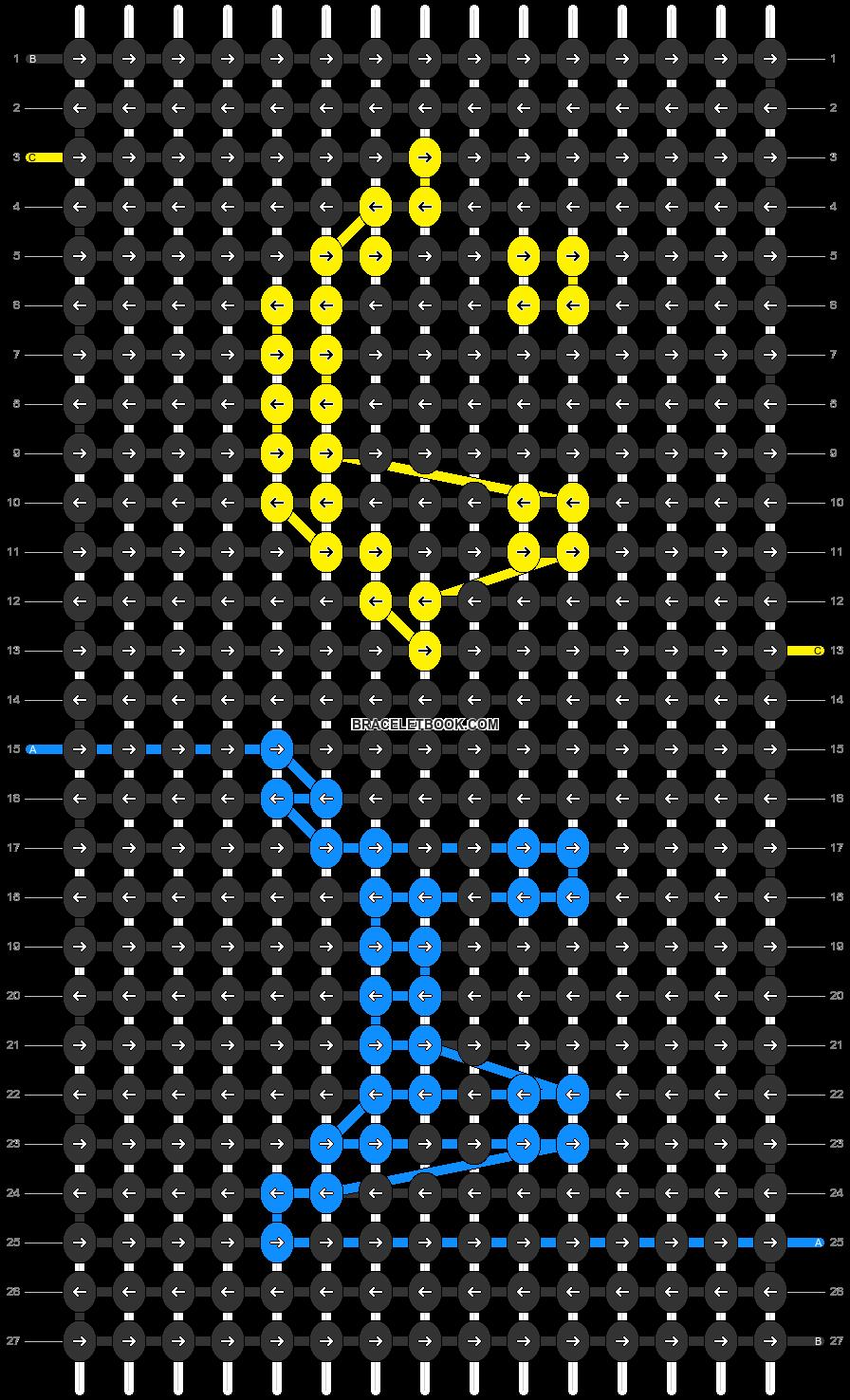 Alpha pattern #47300 pattern