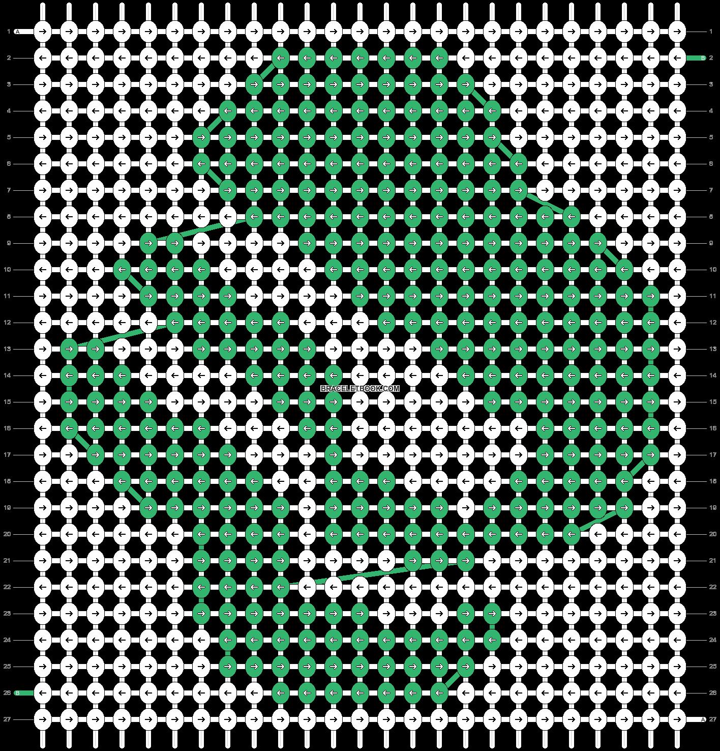 Alpha pattern #47654 pattern