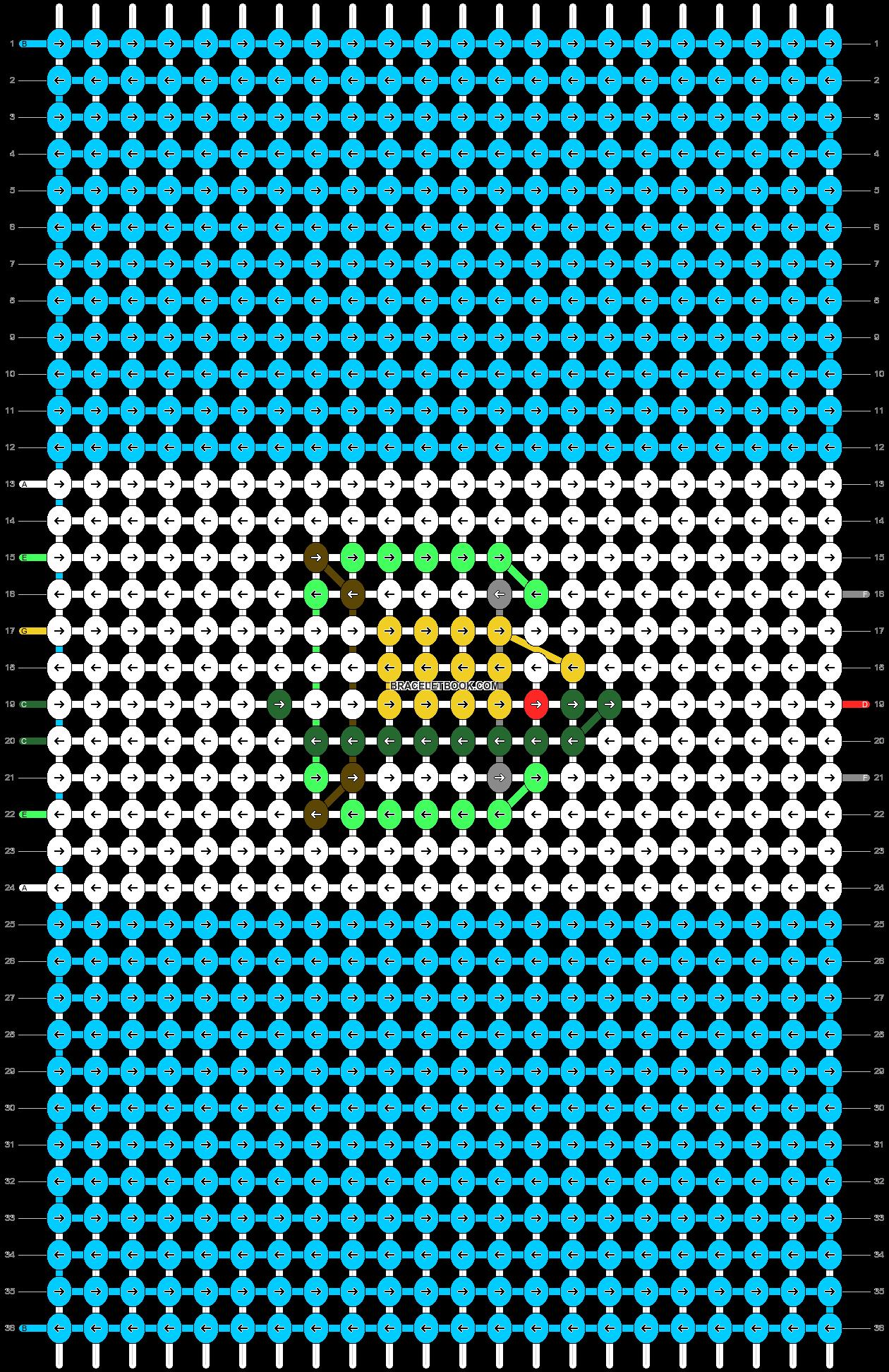 Alpha pattern #50004 pattern