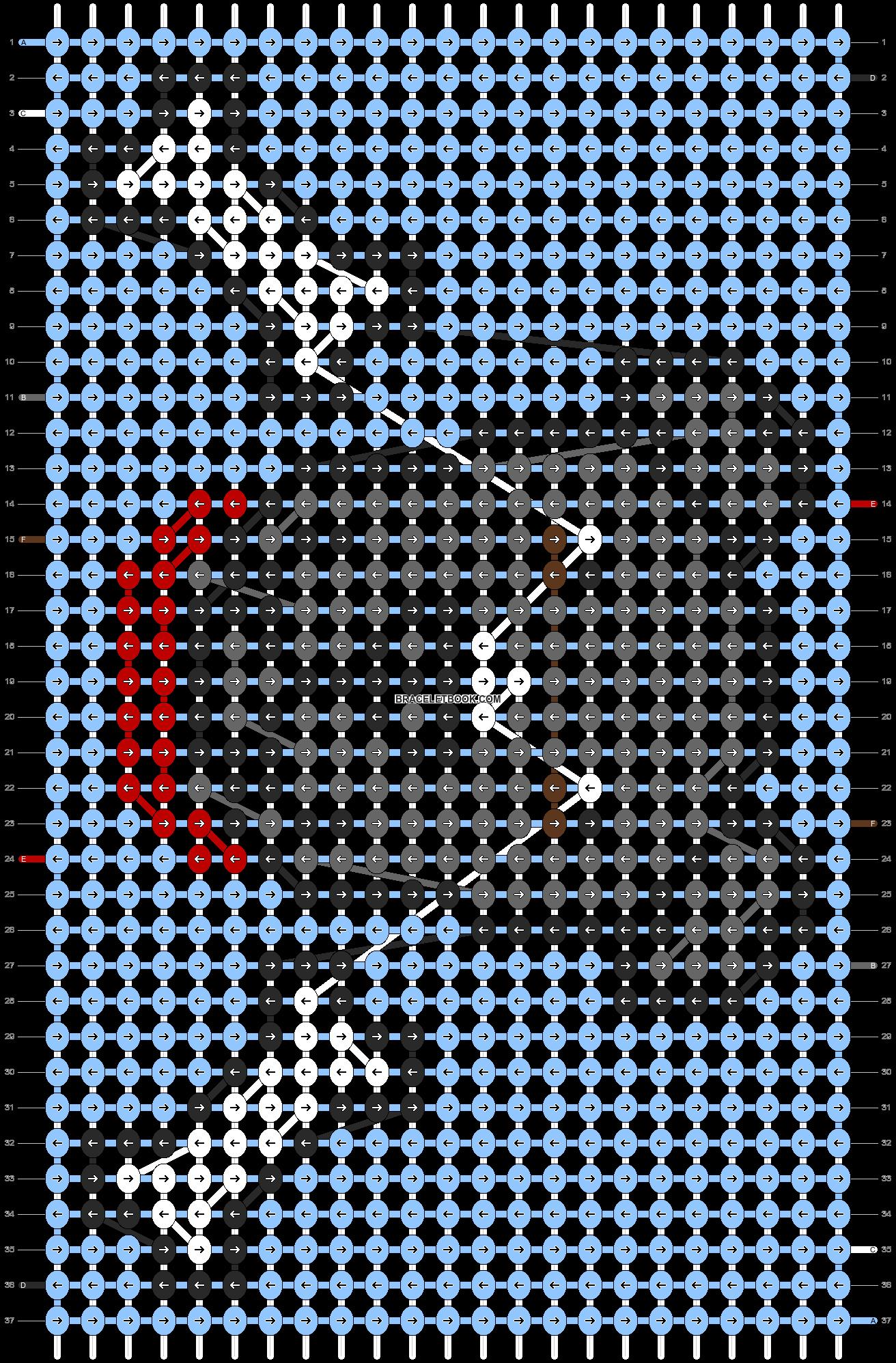 Alpha pattern #51037 pattern
