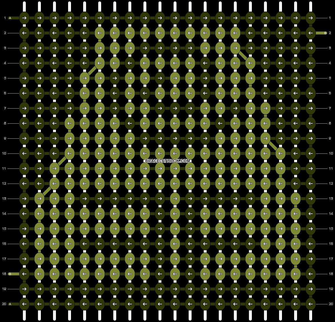Alpha pattern #51076 pattern
