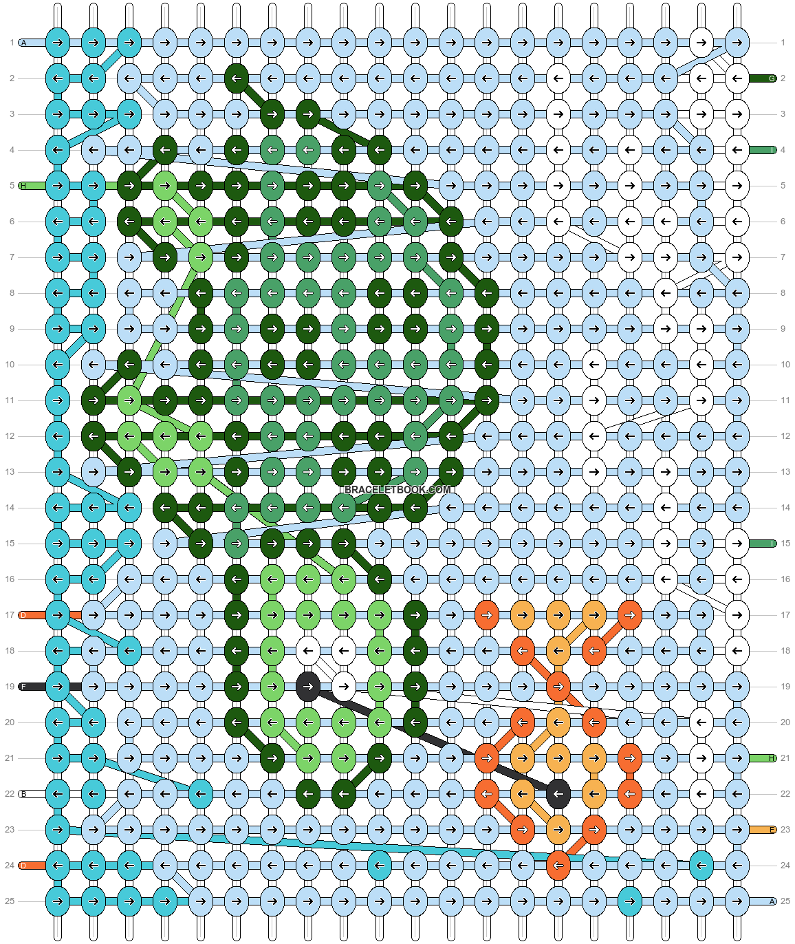 Alpha pattern #52009 pattern