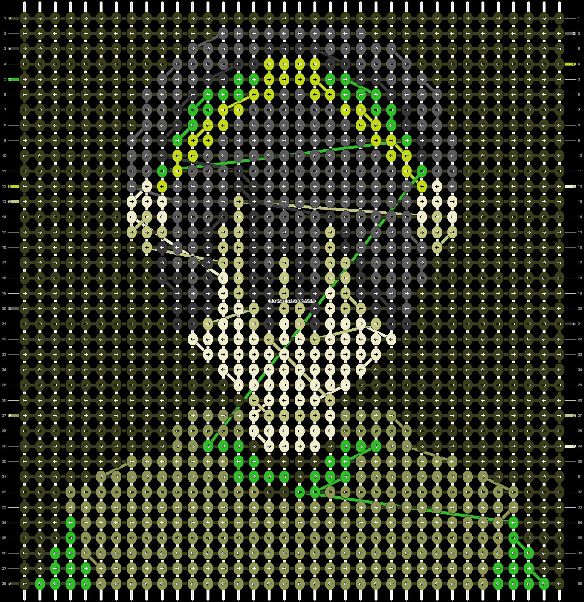 Alpha pattern #53744 pattern