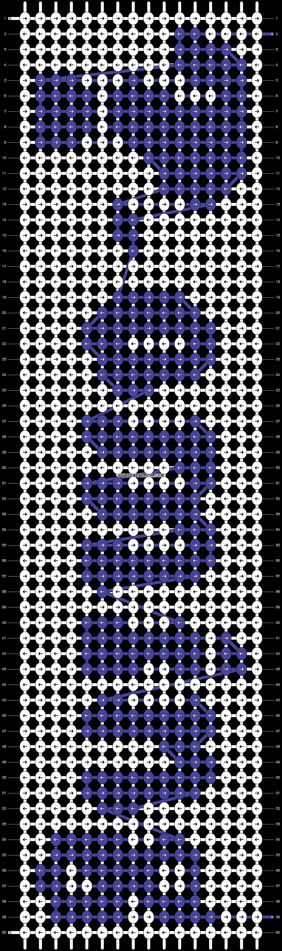 Alpha pattern #54002 pattern