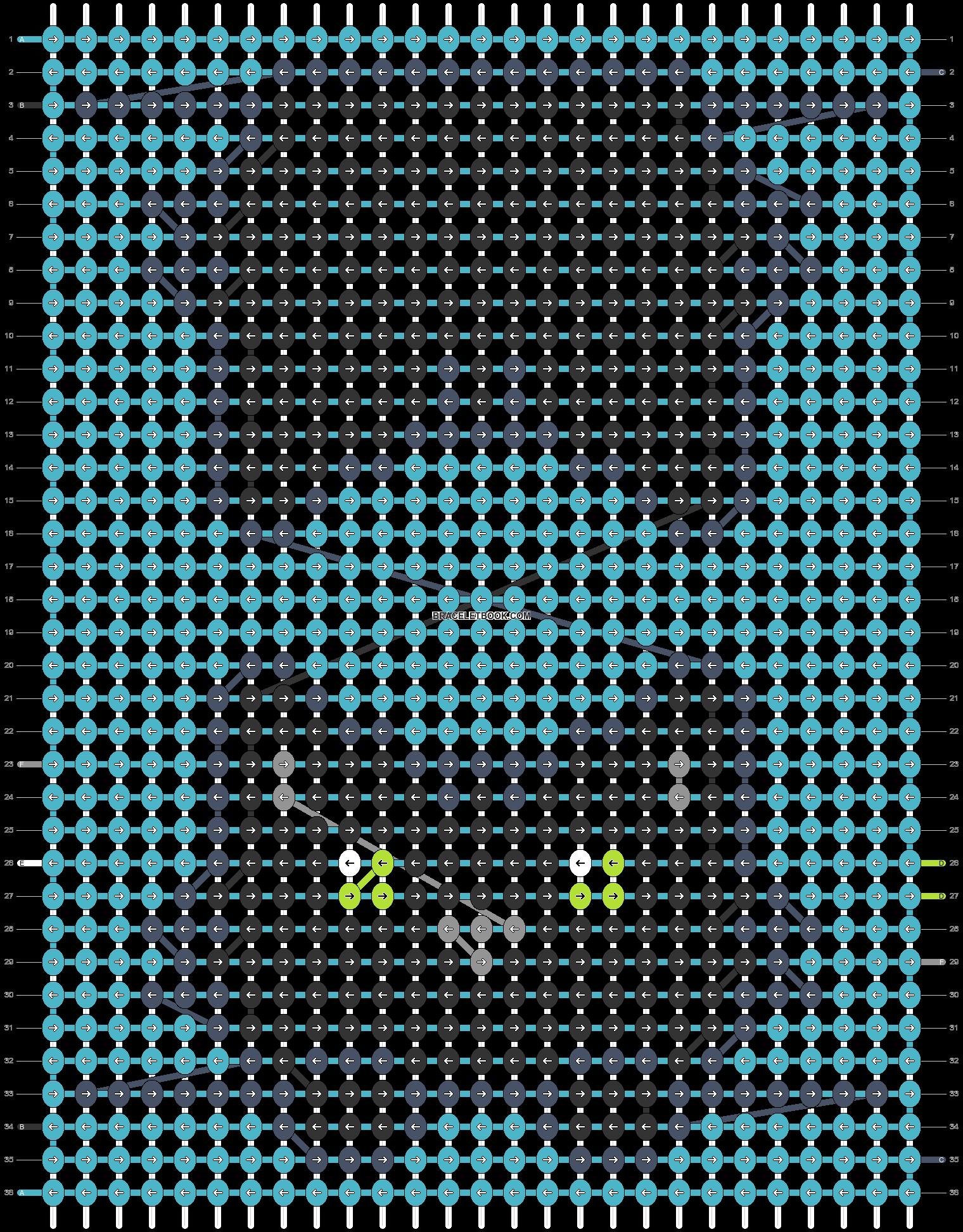 Alpha pattern #54410 pattern