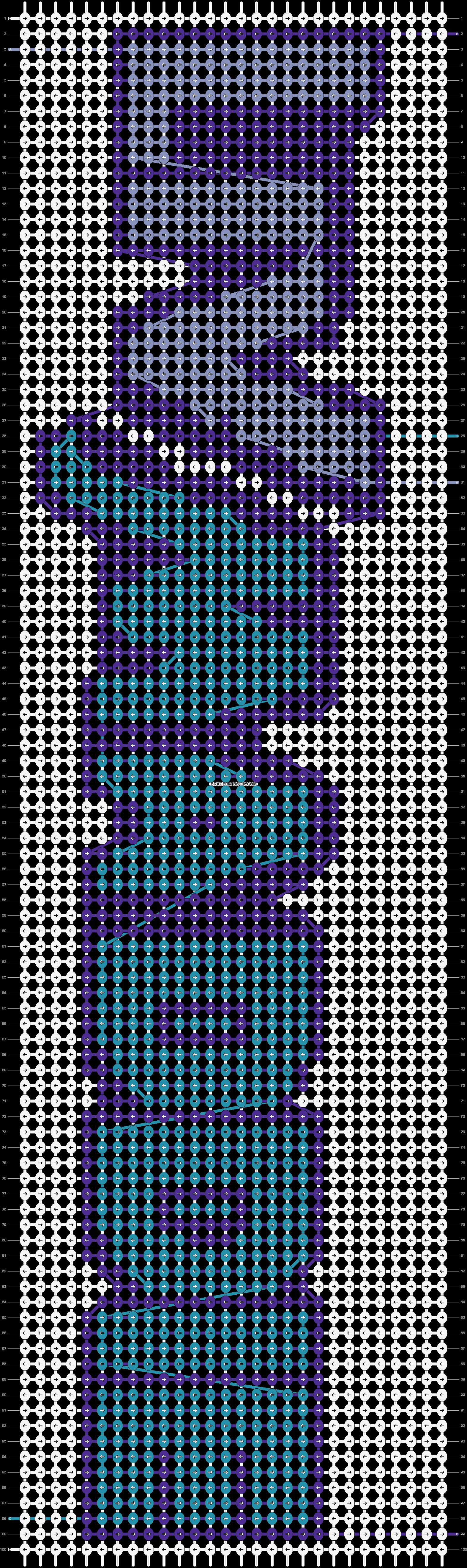 Alpha pattern #55008 pattern