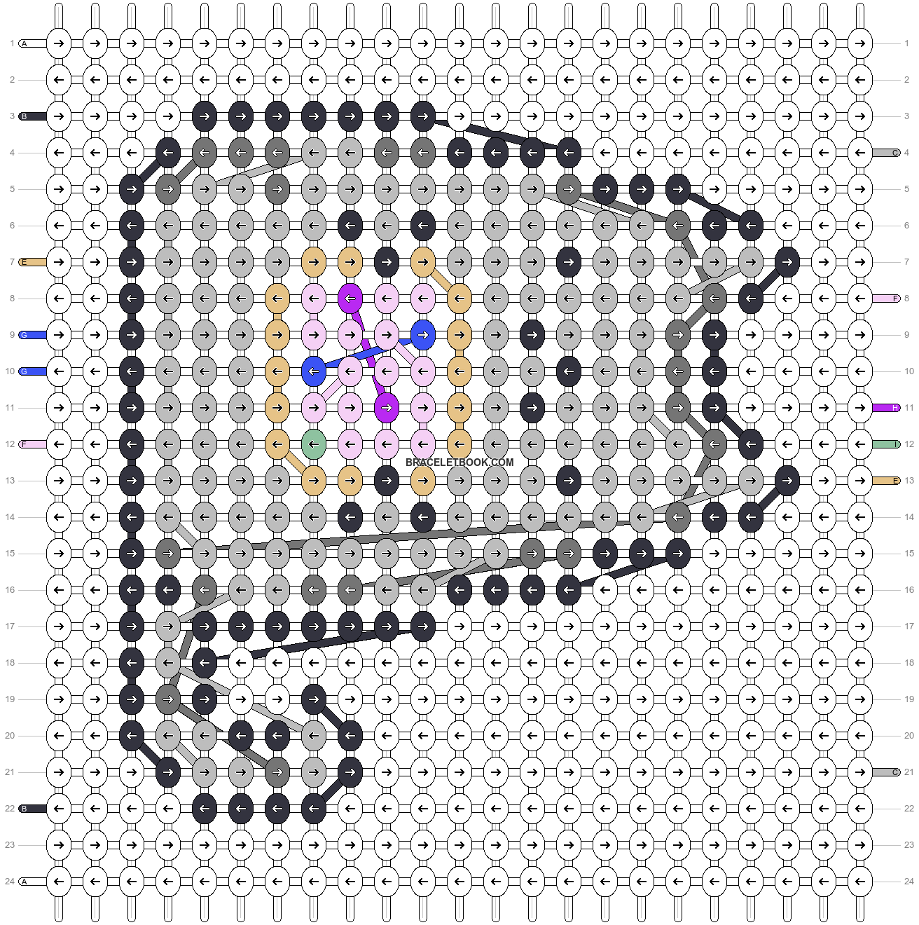 Alpha pattern #55540 pattern