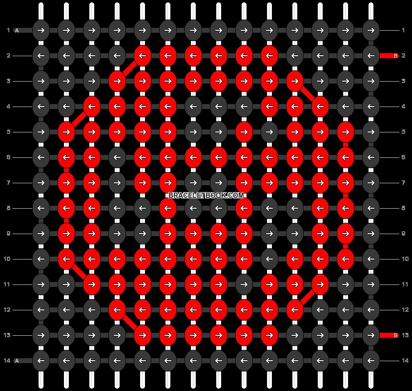 Alpha pattern #55658 pattern