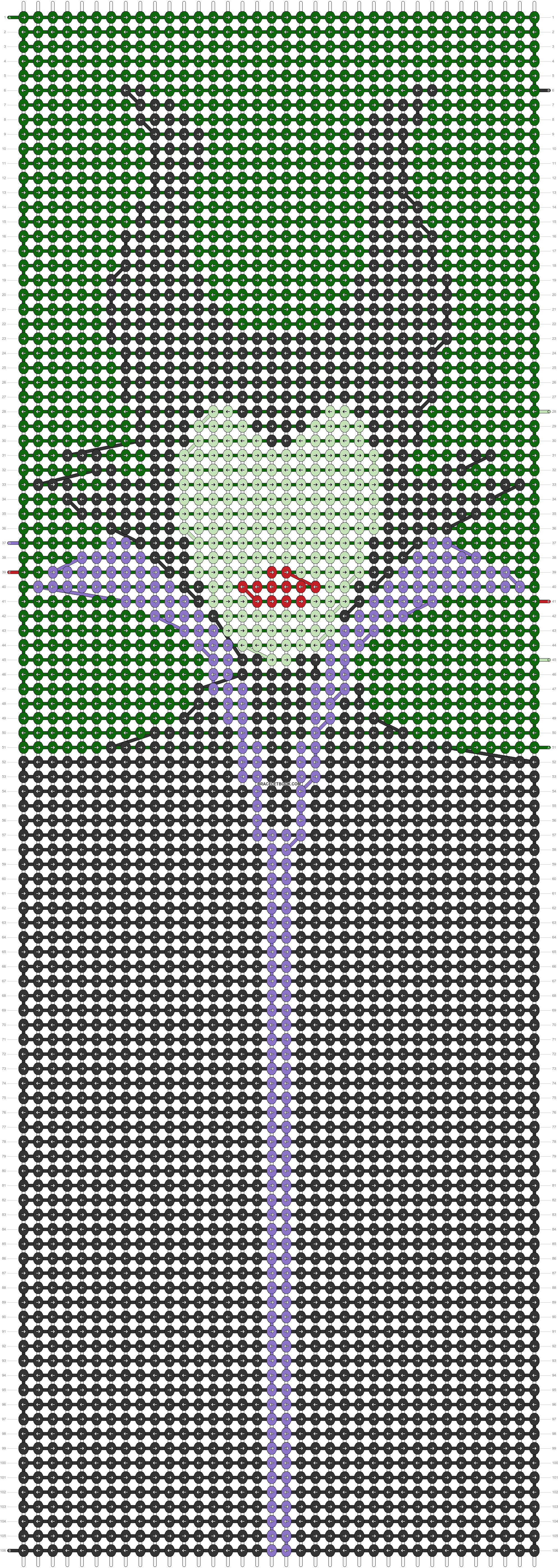 Alpha pattern #56412 pattern