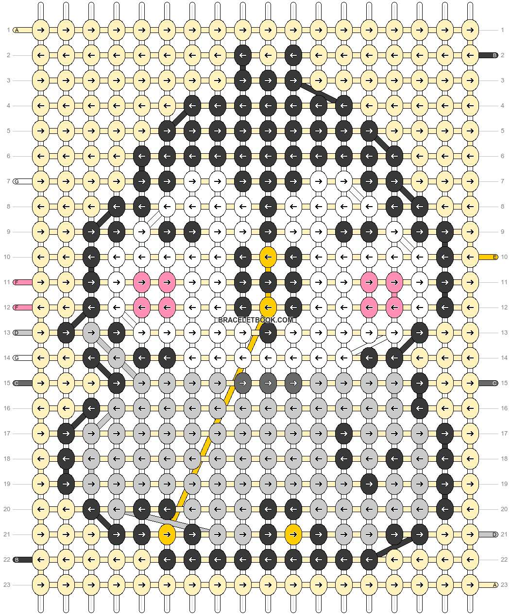 Alpha pattern #56600 pattern