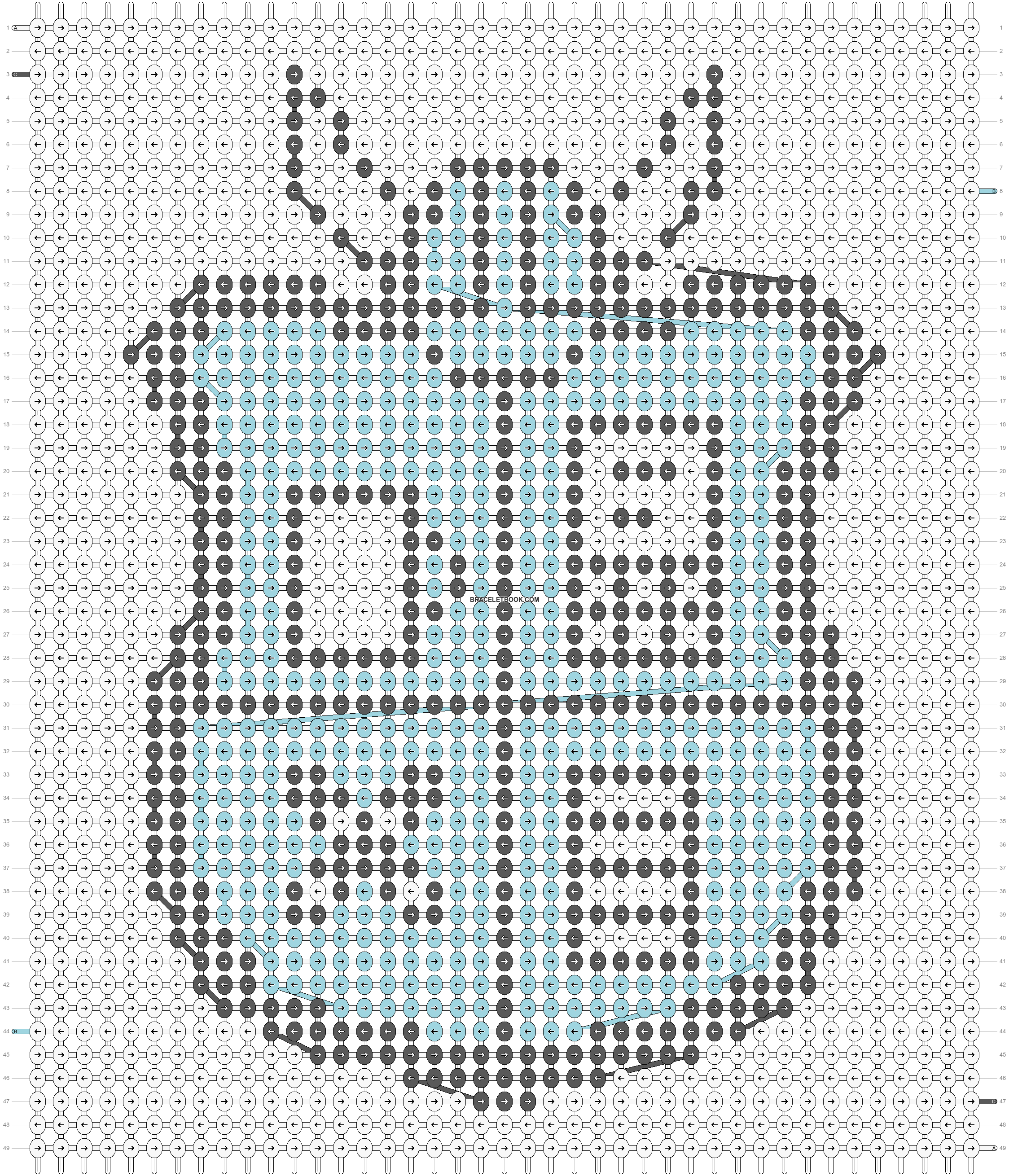 Alpha pattern #57301 pattern