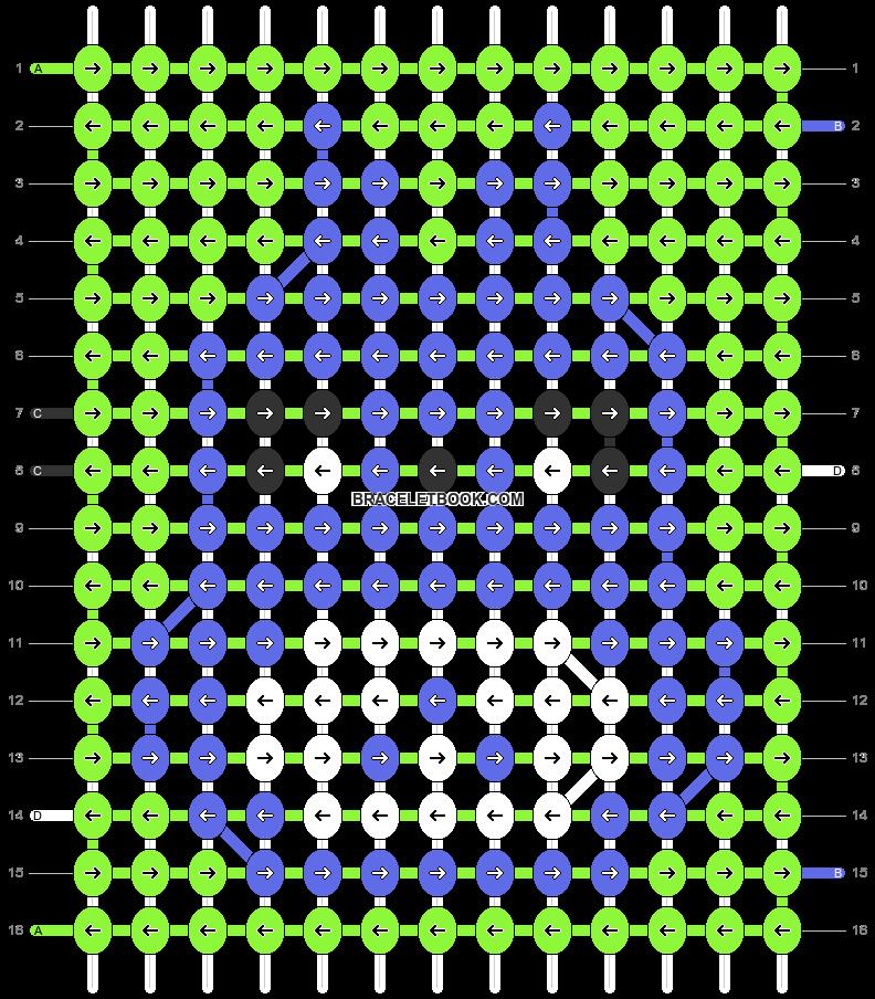 Alpha pattern #58900 pattern