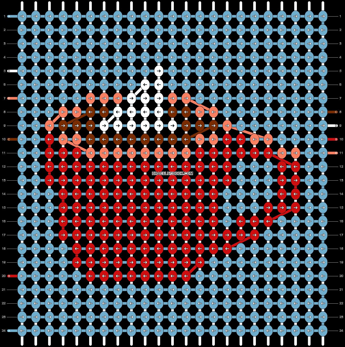 Alpha pattern #60406 pattern