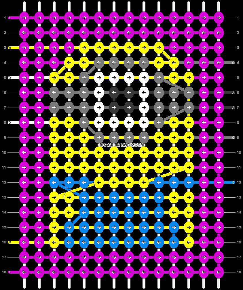 Alpha pattern #65438 pattern