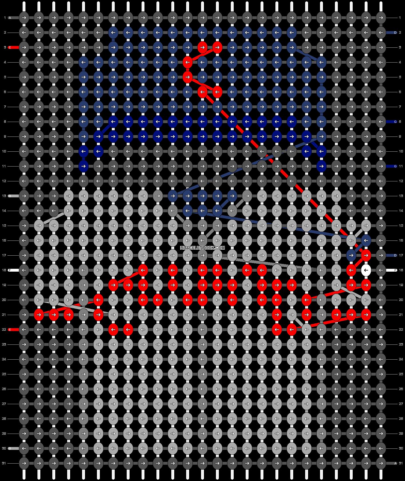Alpha pattern #66201 pattern