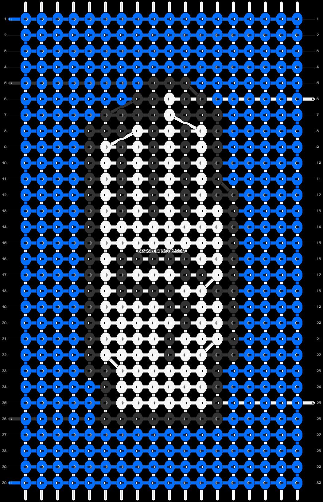 Alpha pattern #67006 pattern