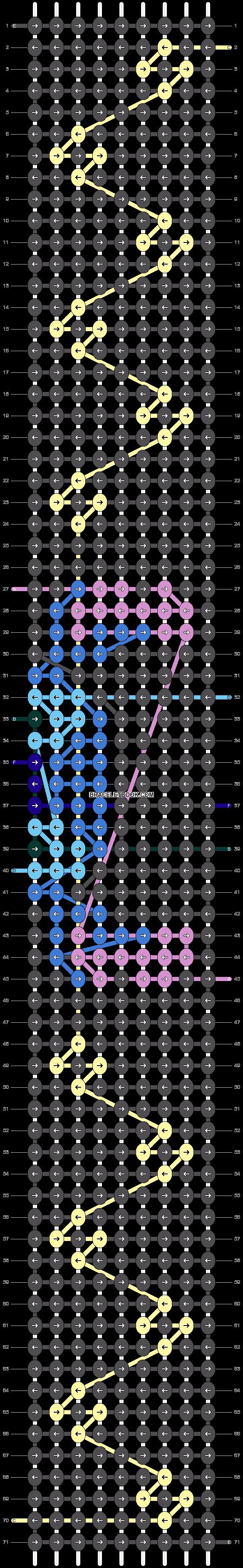 Alpha pattern #67100 pattern