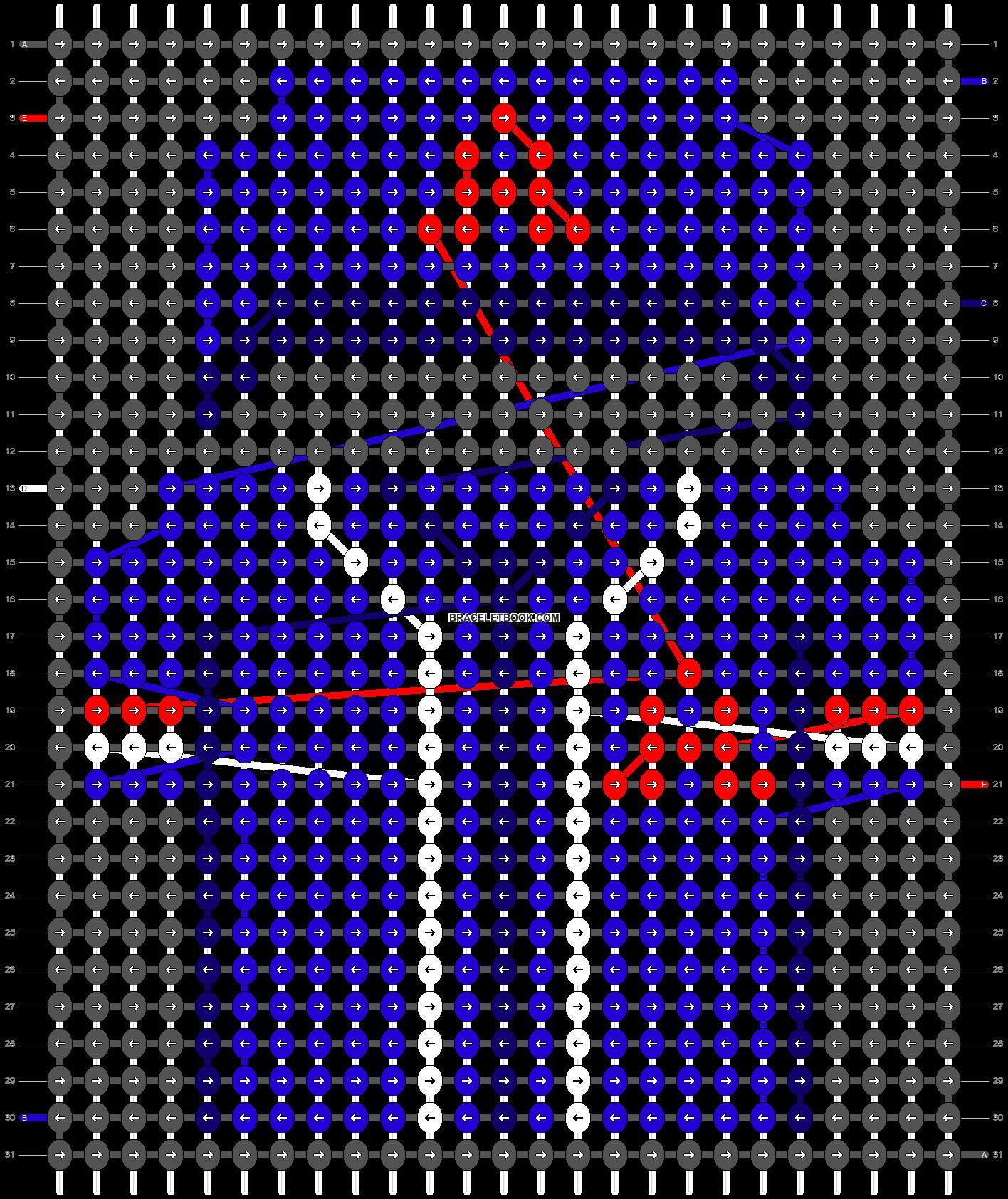 Alpha pattern #67500 pattern
