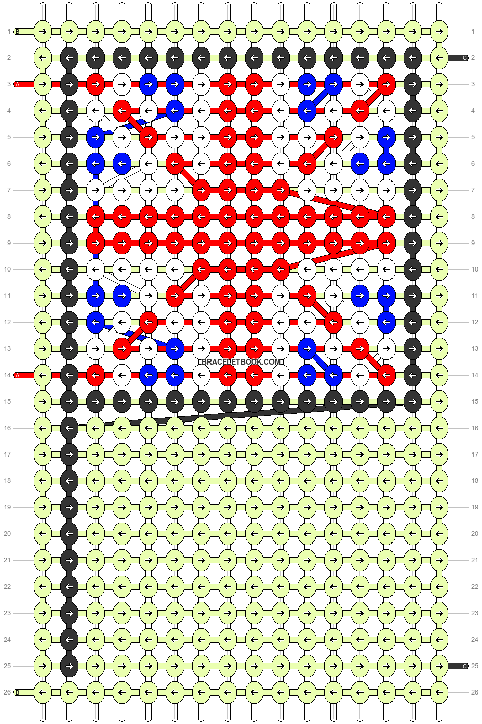 Alpha pattern #67632 pattern