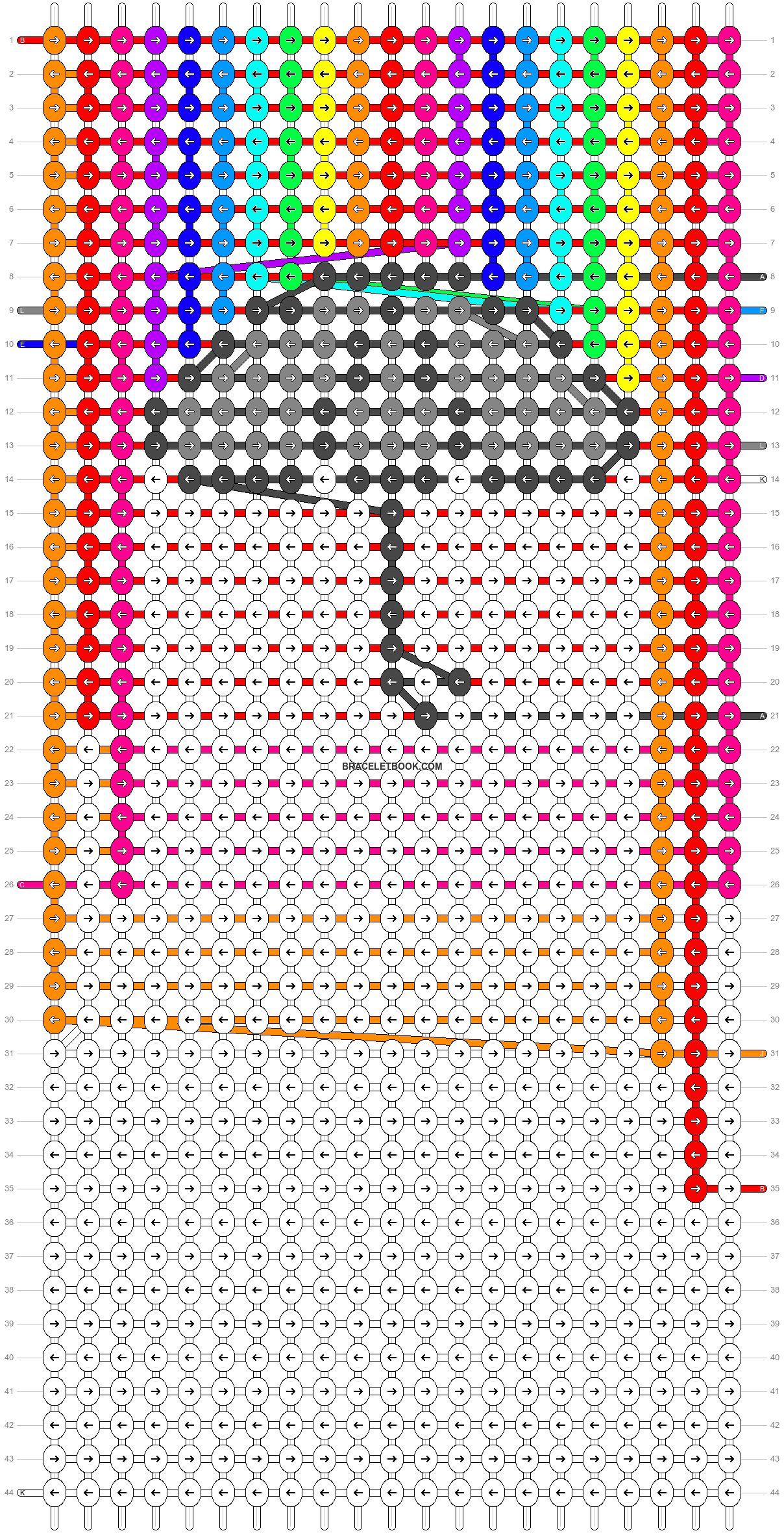Alpha pattern #68400 pattern