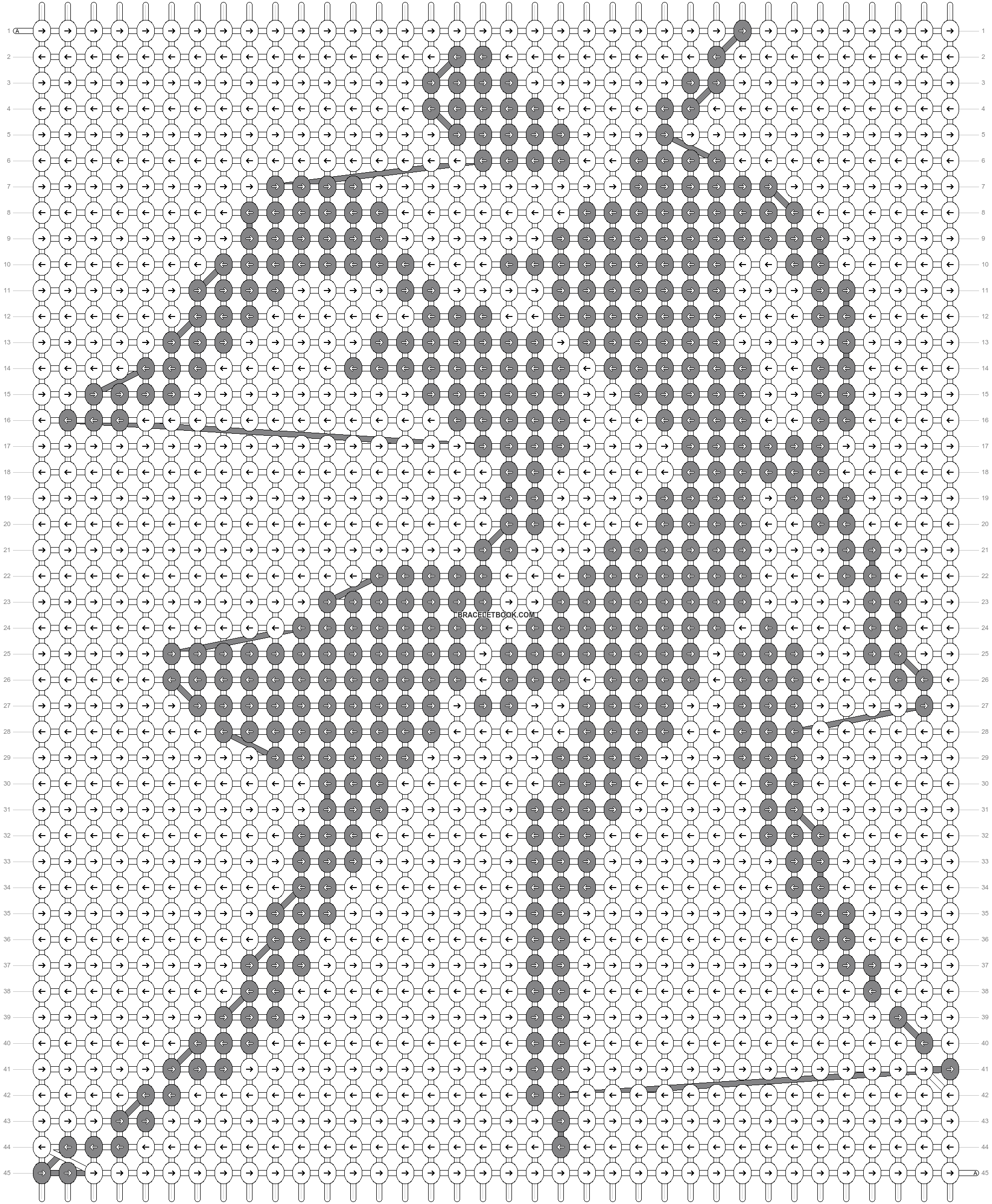 Alpha pattern #72110 pattern