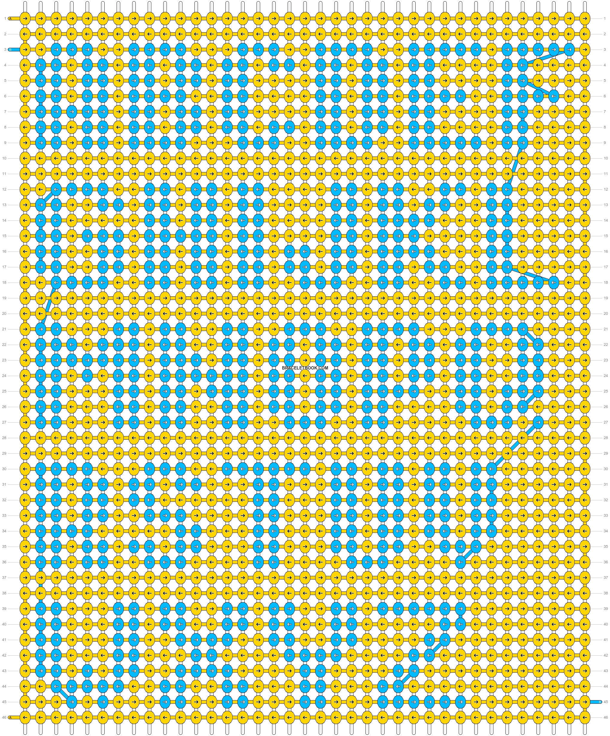 Alpha pattern #74001 pattern