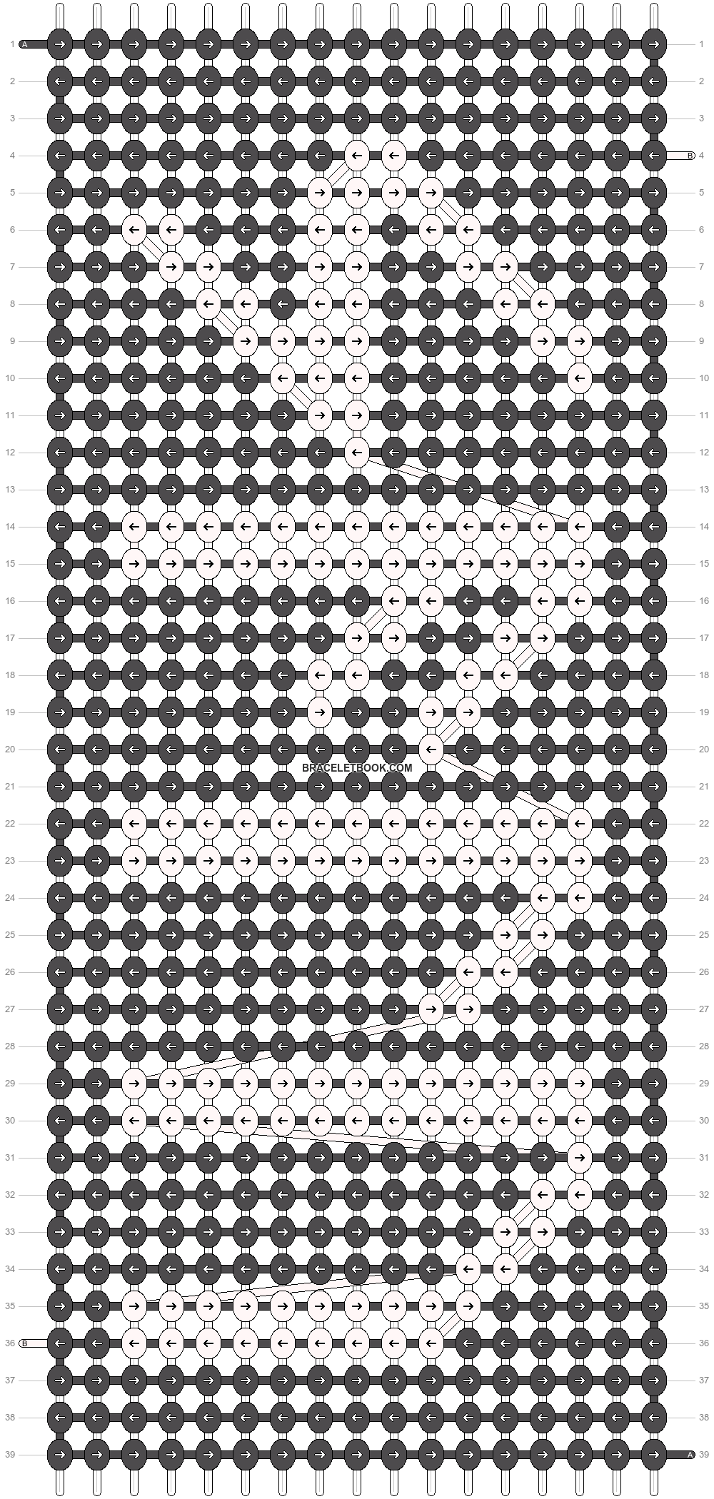 Alpha pattern #74018 pattern