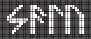 Alpha pattern #74018