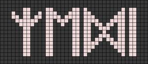 Alpha pattern #74019