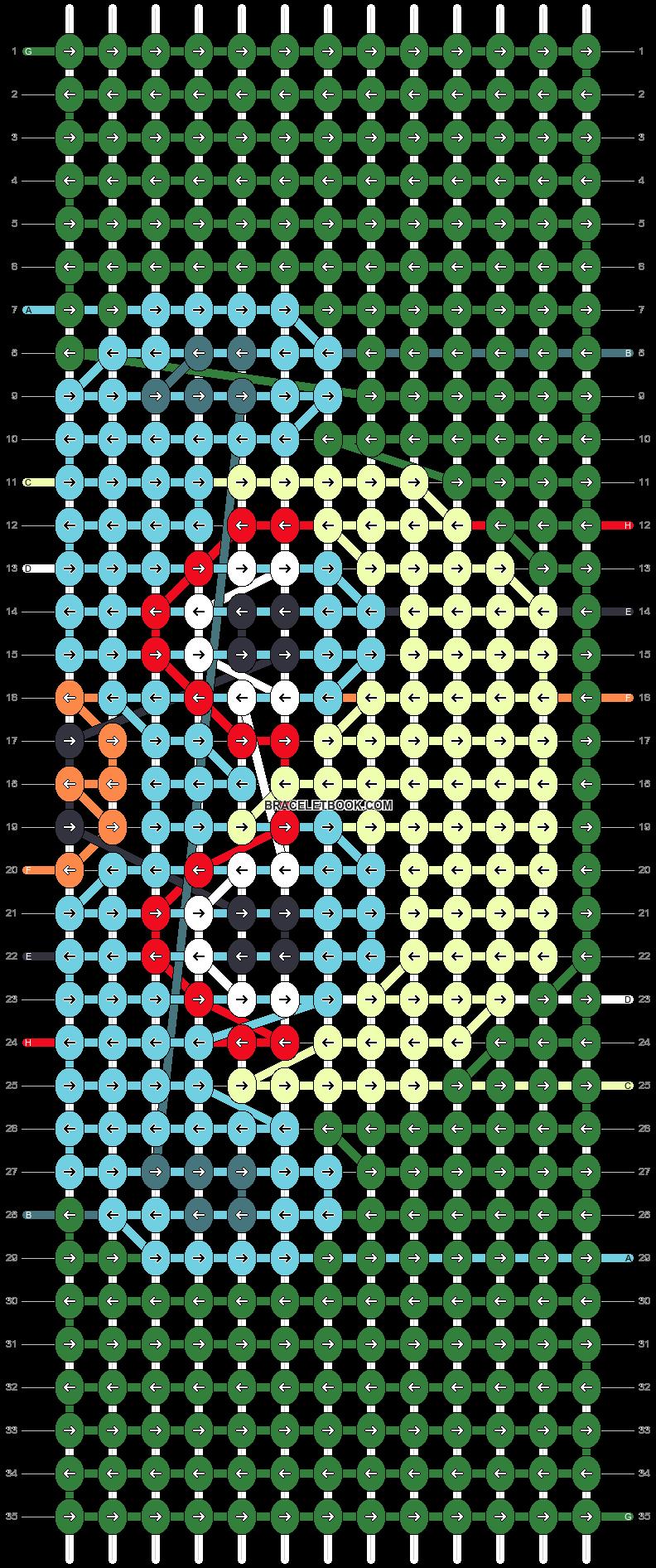 Alpha pattern #75030 pattern